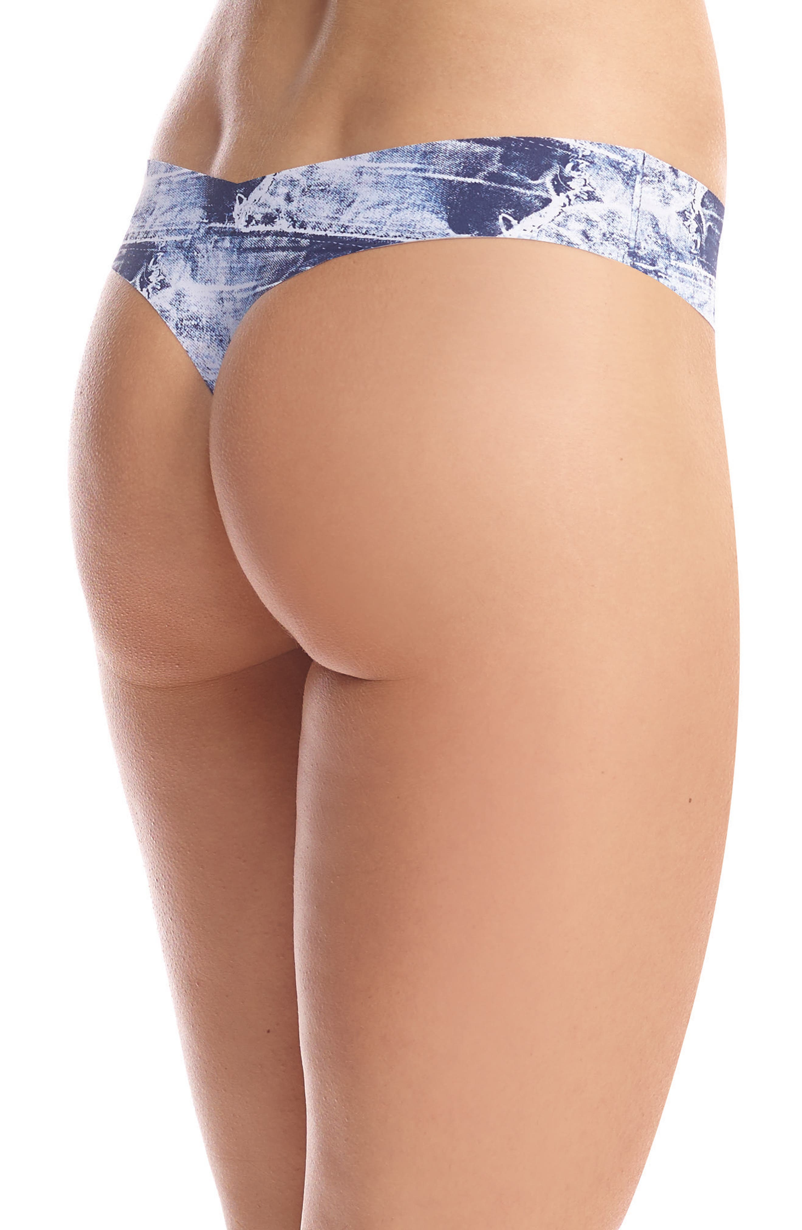 Print Microfiber Thong,                             Alternate thumbnail 109, color,
