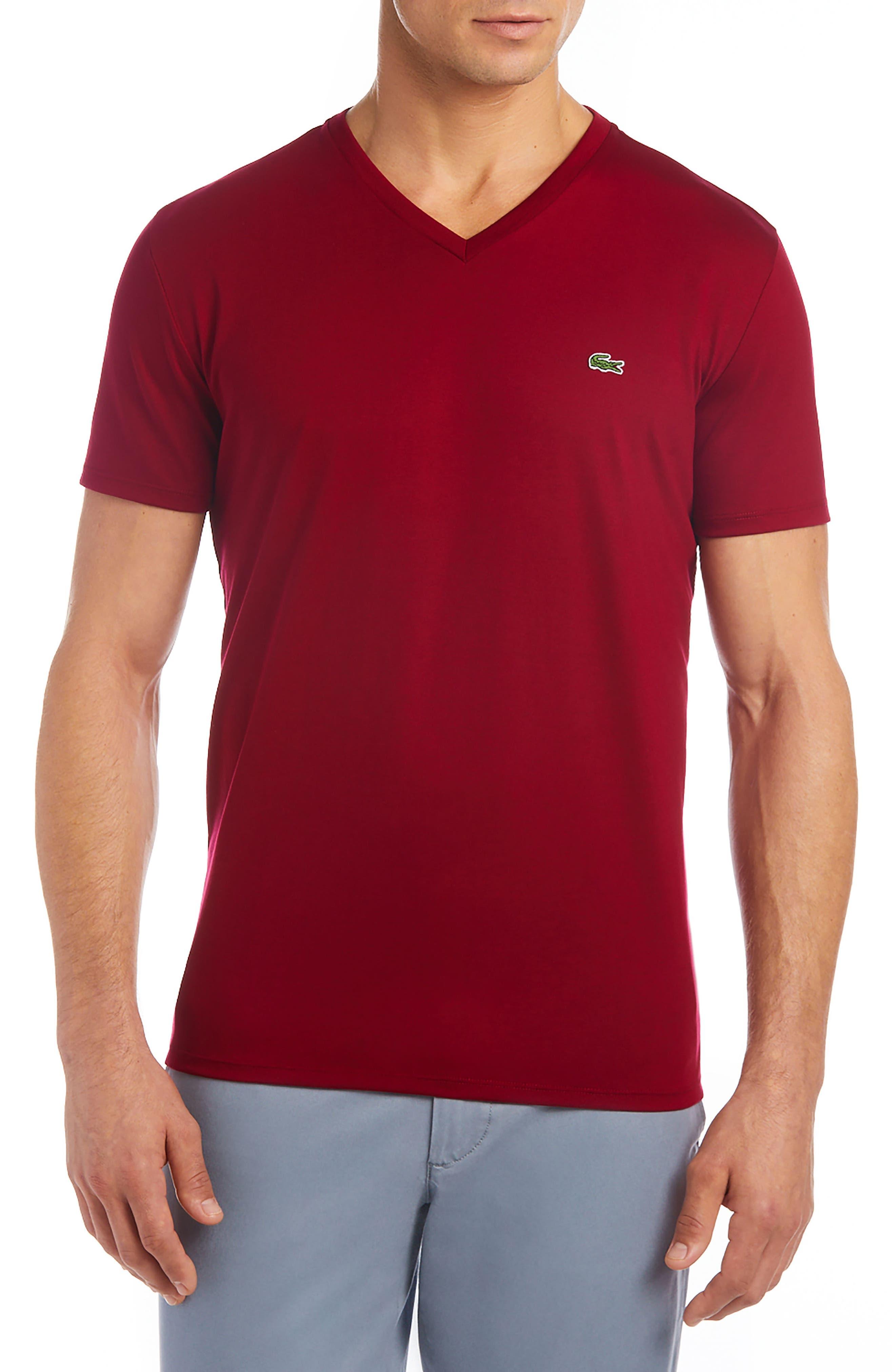 V-Neck Cotton T-Shirt,                             Main thumbnail 7, color,