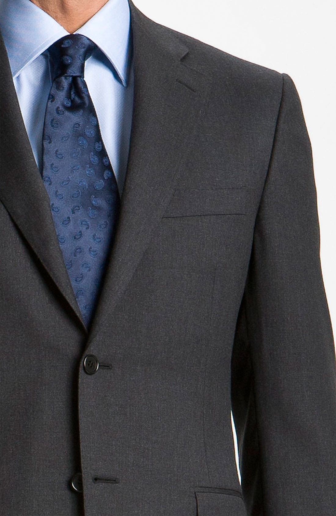 Classic Fit Wool Suit,                             Alternate thumbnail 13, color,                             CHARCOAL