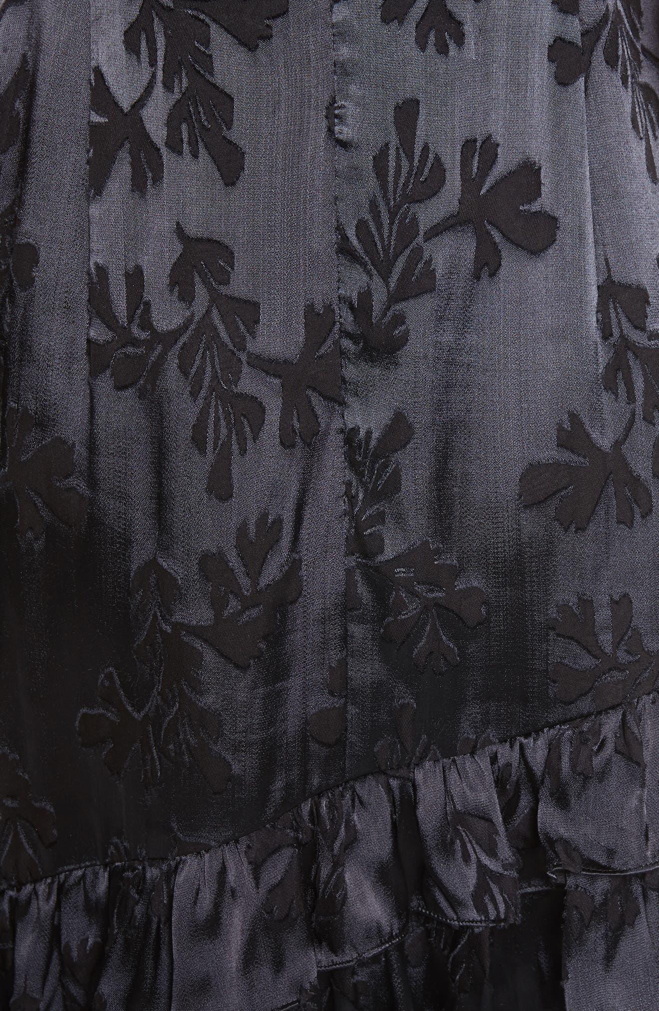 Burnout Silk Satin Dress,                             Alternate thumbnail 5, color,