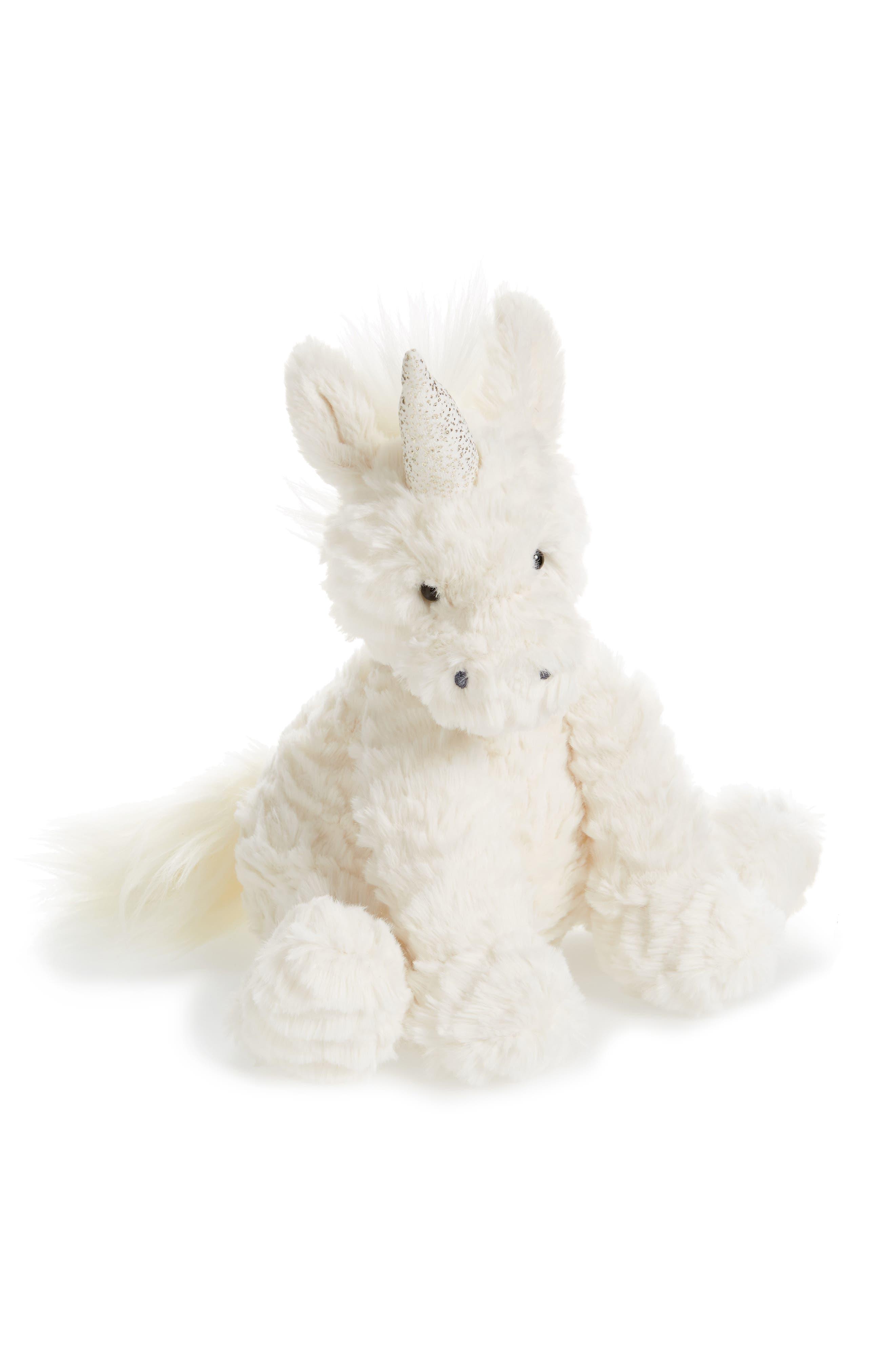 JELLYCAT Fuddlewuddle Medium Unicorn Stuffed Animal, Main, color, 102