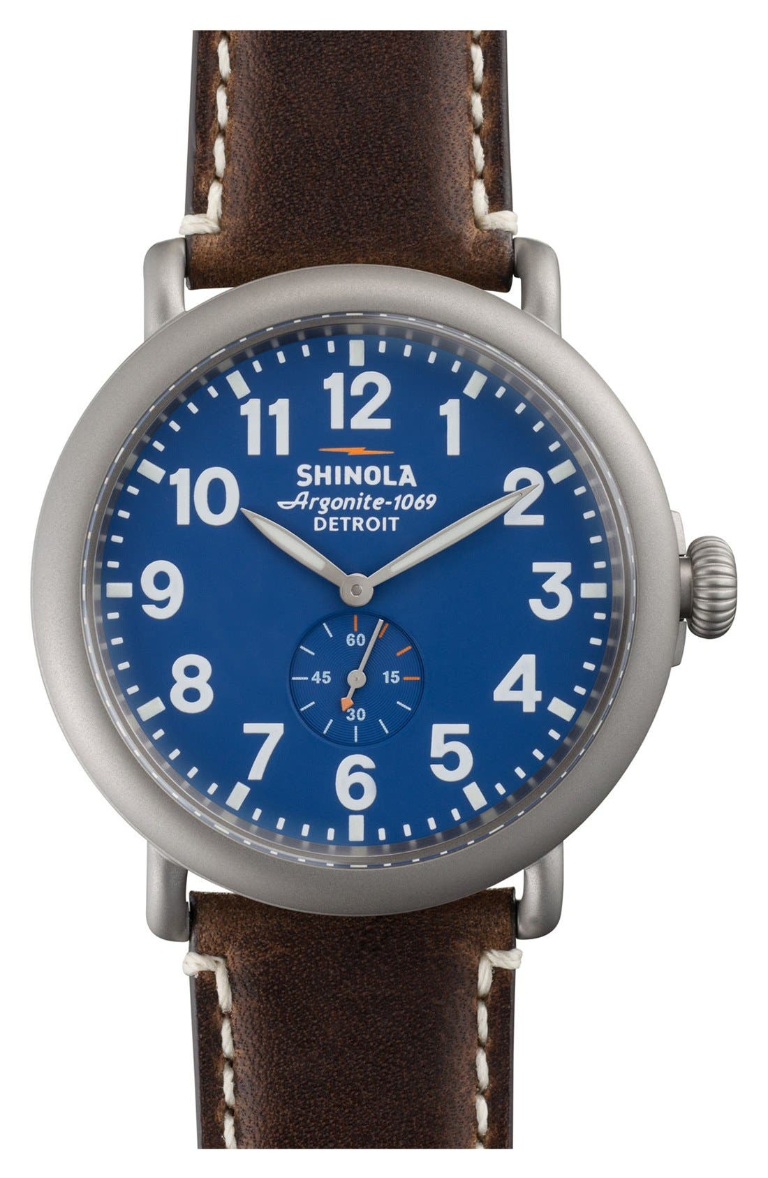 'The Runwell' Leather Strap Watch, 47mm,                             Main thumbnail 7, color,