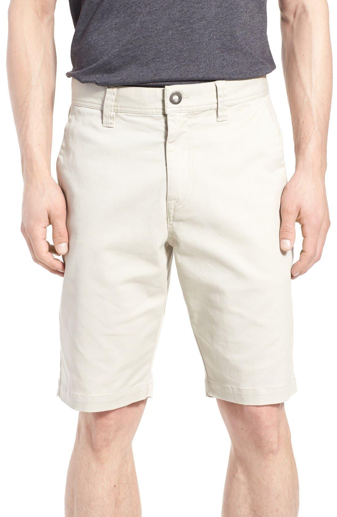 'Modern' Stretch Chino Shorts,                             Main thumbnail 7, color,