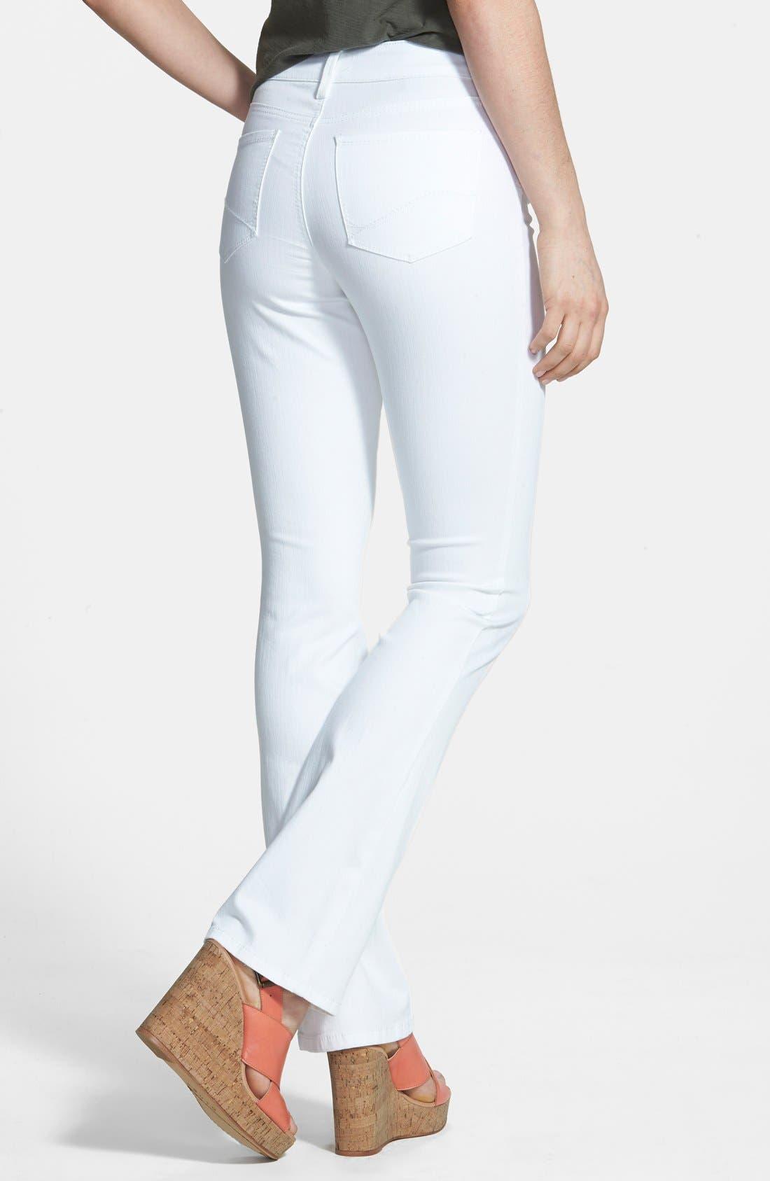 'Billie' Stretch Mini Bootcut Jeans,                             Alternate thumbnail 3, color,                             103