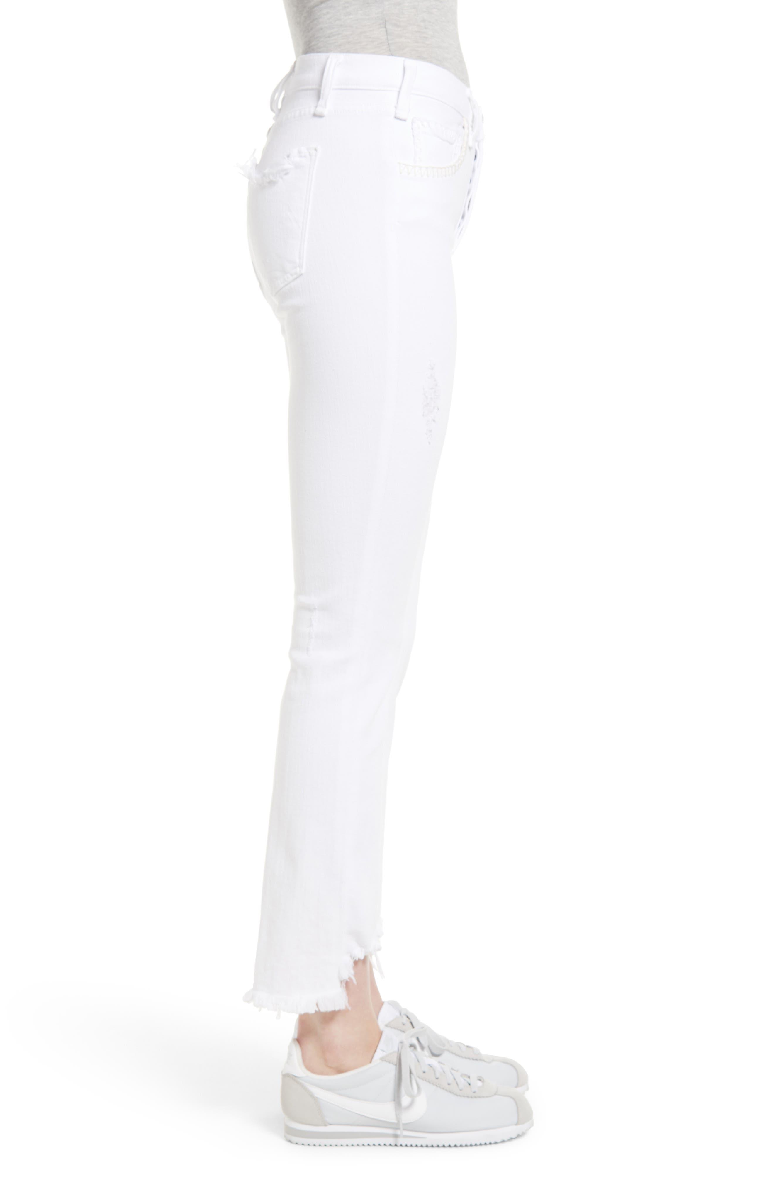 Valetta Step Hem Straight Leg Jeans,                             Alternate thumbnail 3, color,                             SIDARI