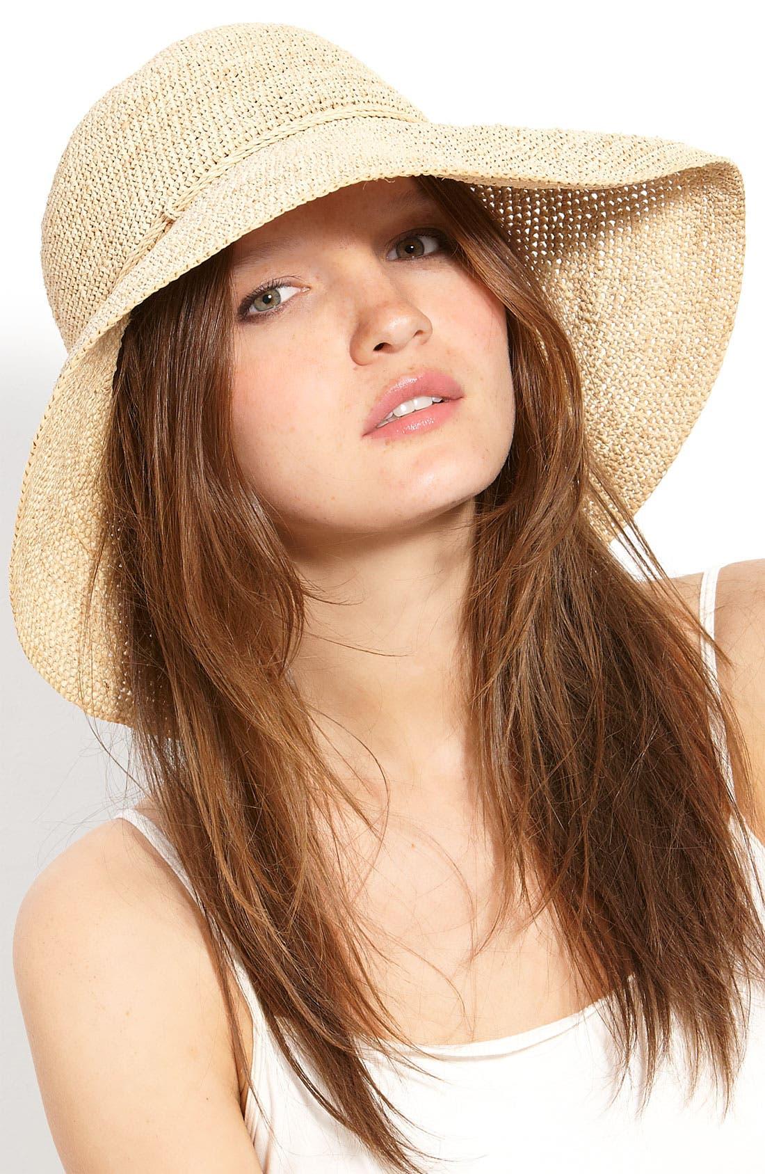 HELEN KAMINSKI,                             'Provence 12' Packable Raffia Hat,                             Main thumbnail 1, color,                             NATURAL