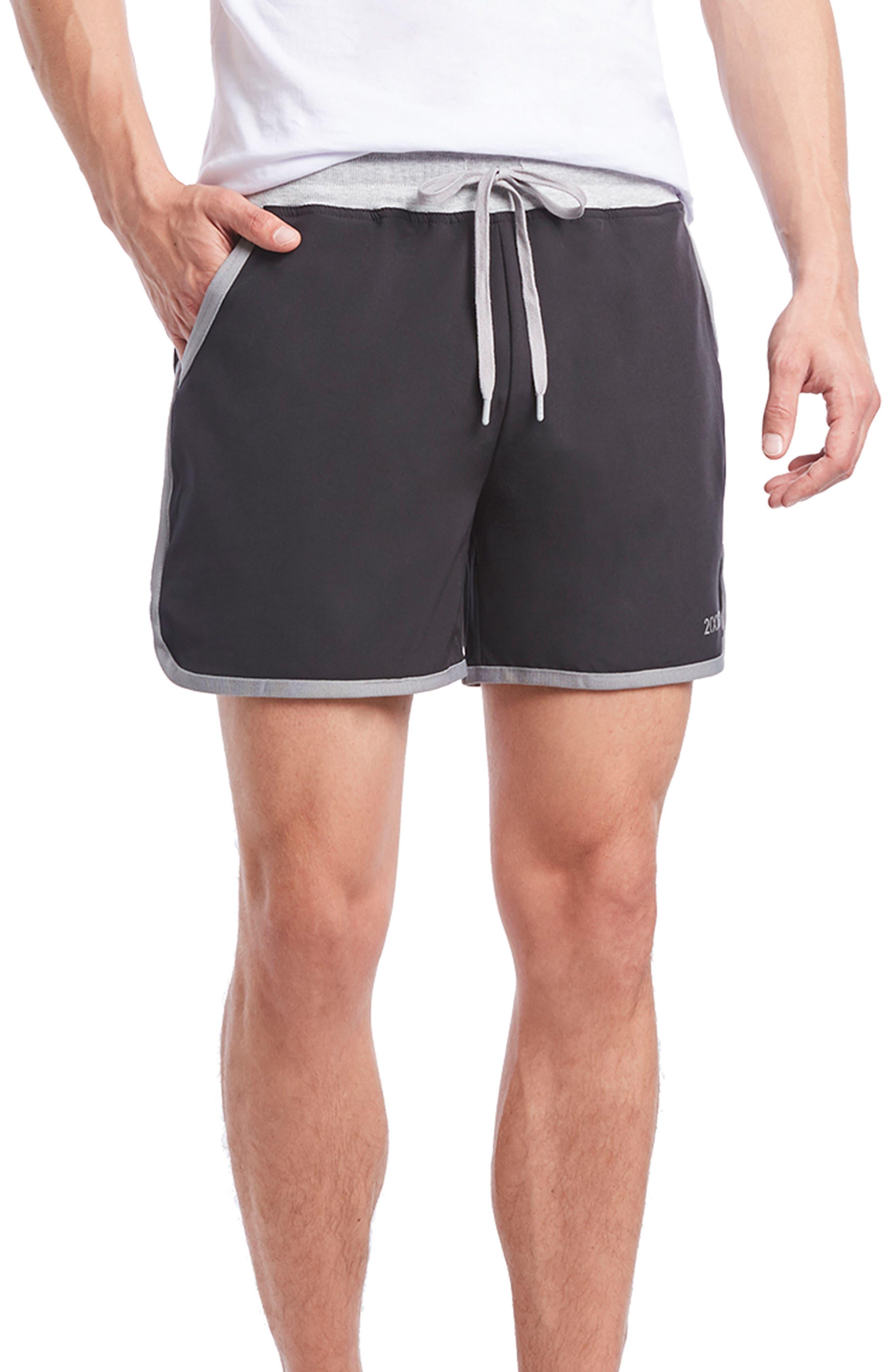 Performance Jogger Shorts,                             Main thumbnail 1, color,                             BLACK/ EARL GREY
