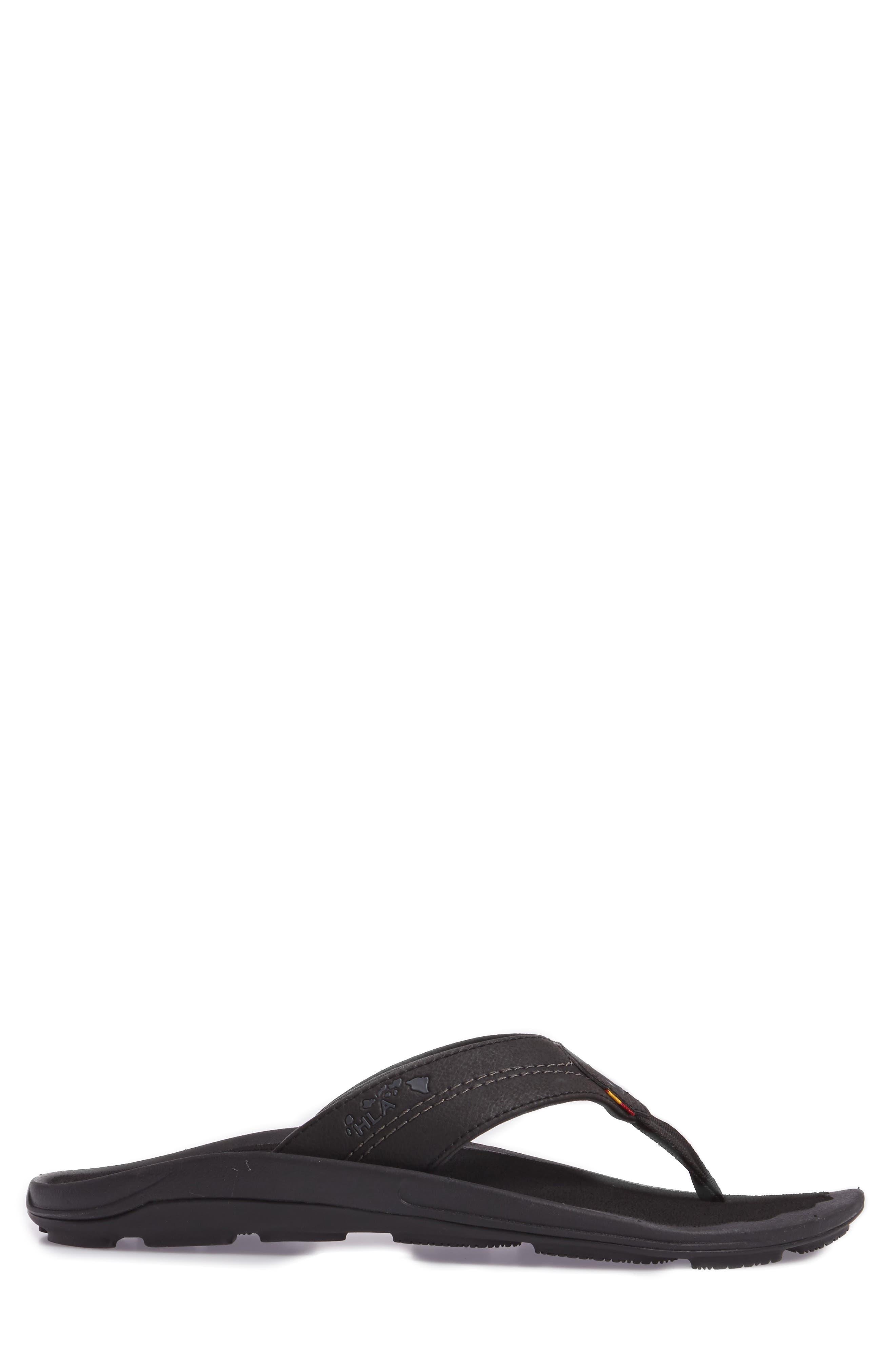Kipi Flip Flop,                             Alternate thumbnail 3, color,                             BLACK/ BLACK