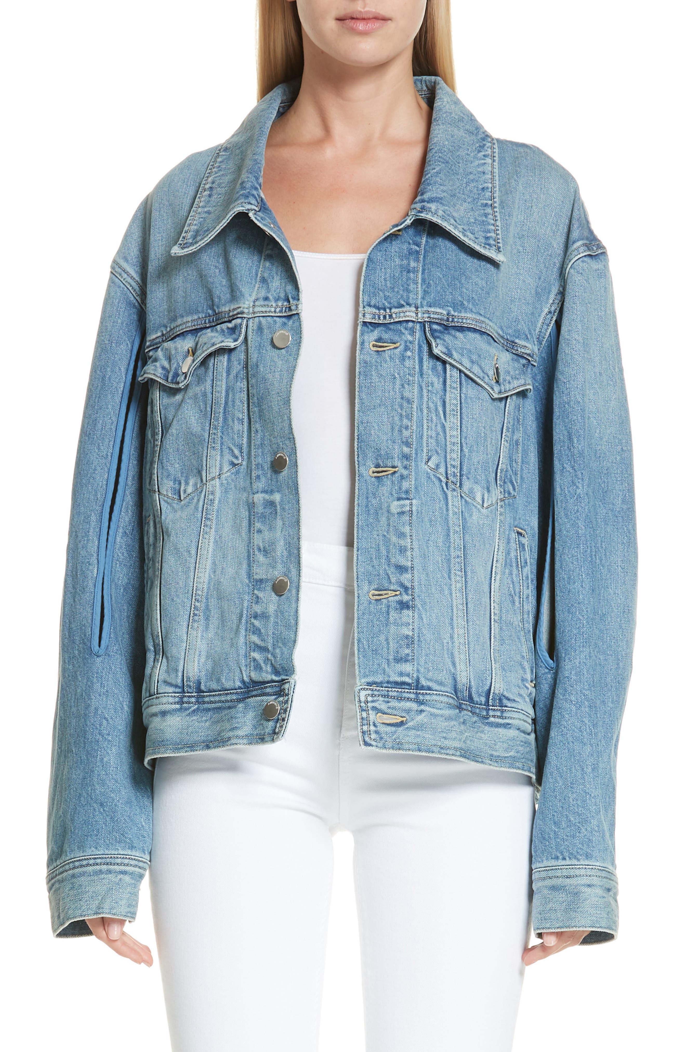 Denim Jacket,                         Main,                         color, BLUE