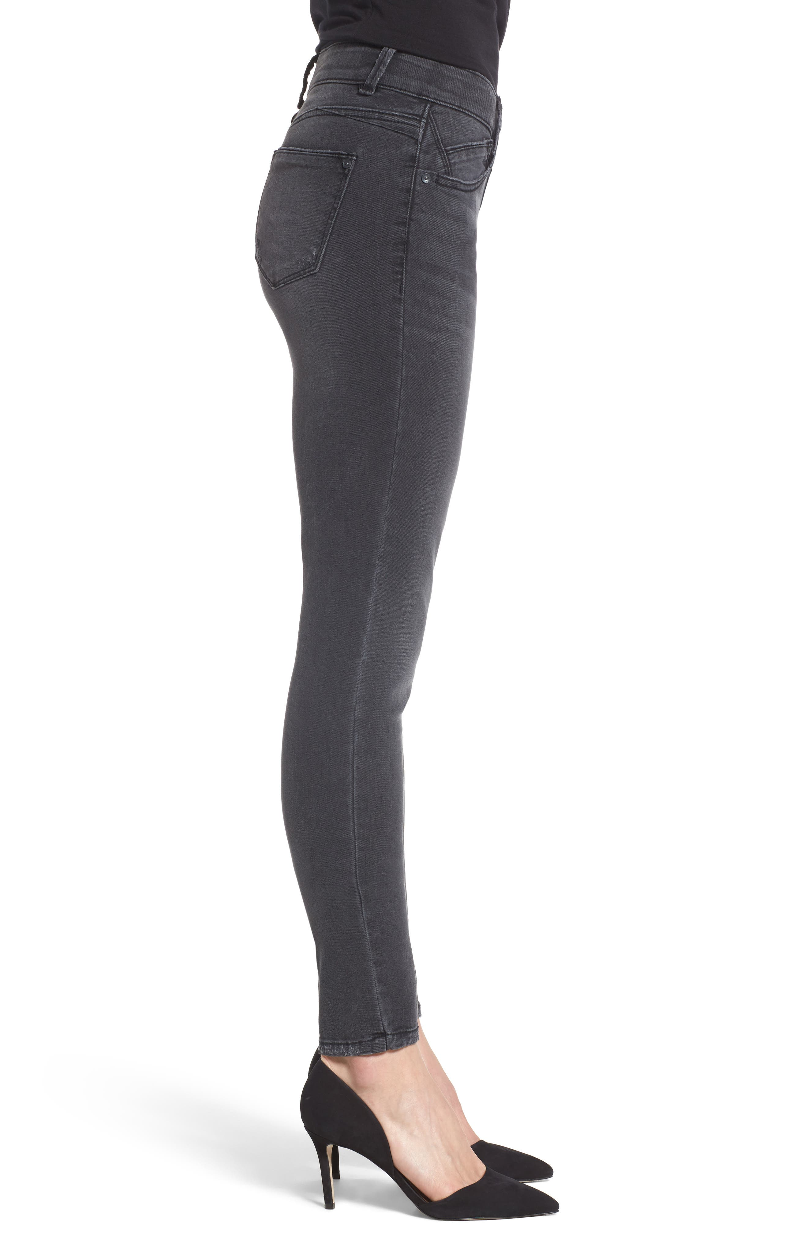 Ab-solution Stretch Skinny Jeans,                             Alternate thumbnail 3, color,                             GREY