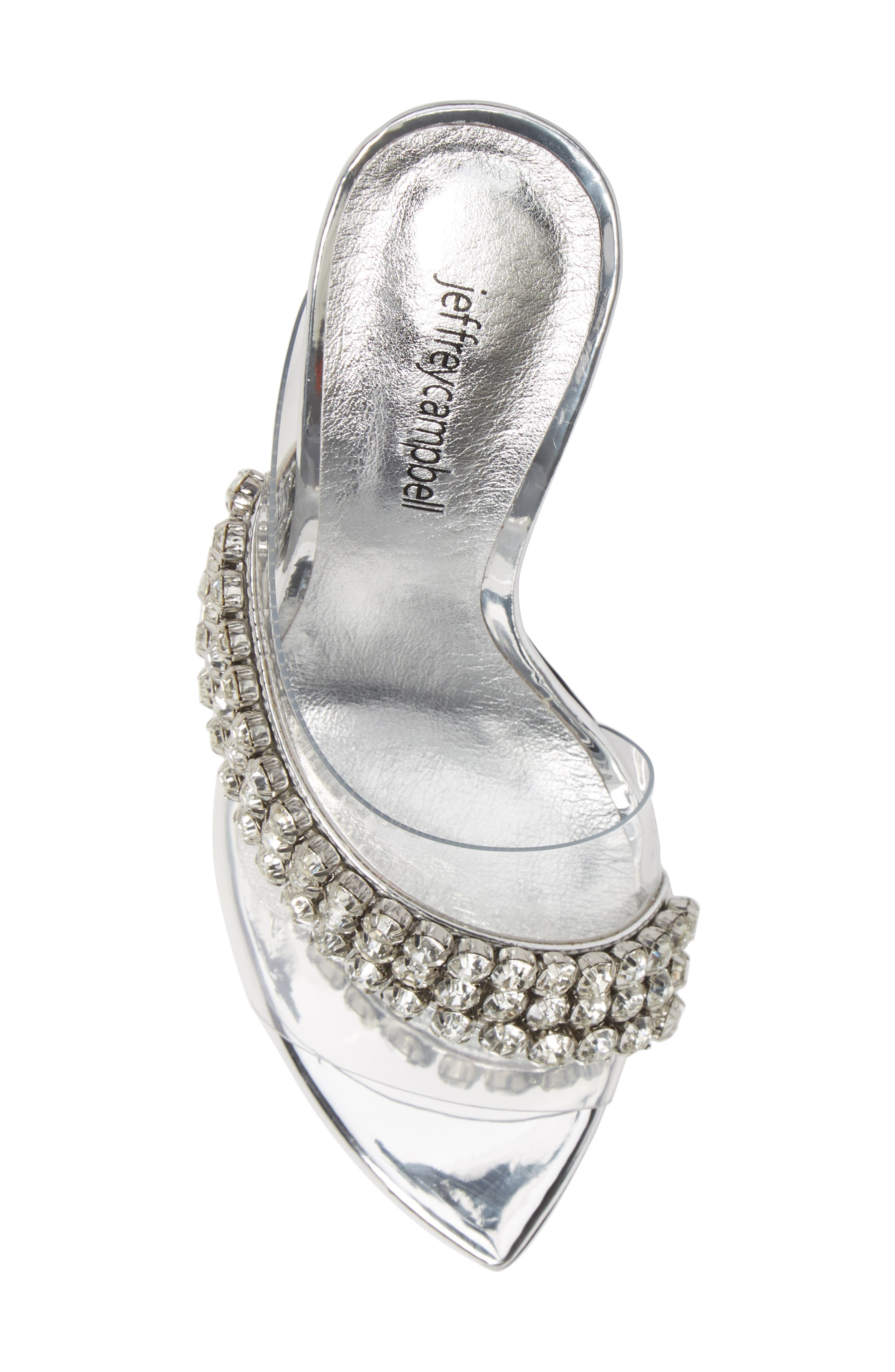 Glam Sandal,                             Alternate thumbnail 5, color,                             SILVER MIRROR LEATHER