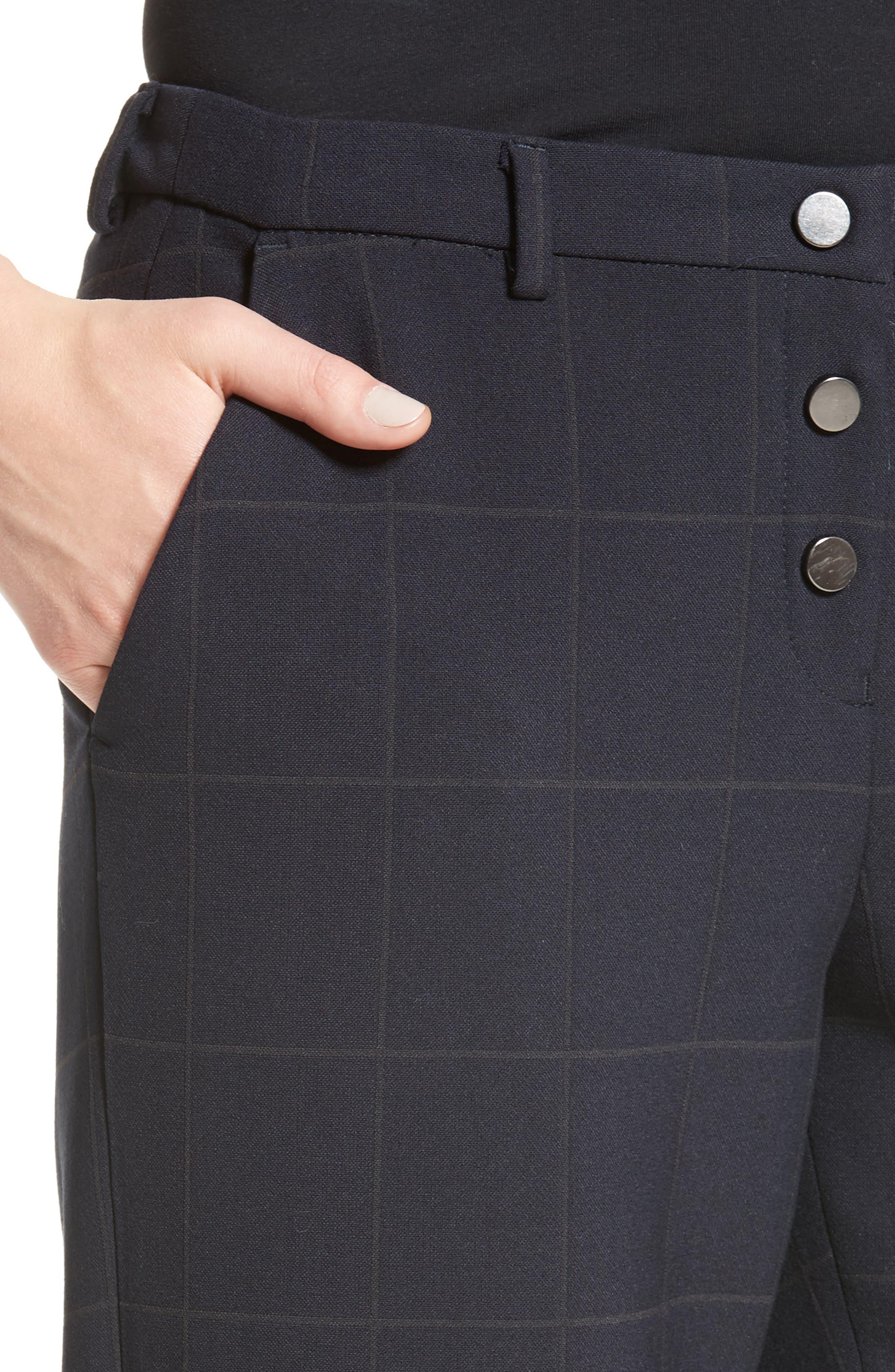 Windowpane Plaid Pants,                             Alternate thumbnail 4, color,