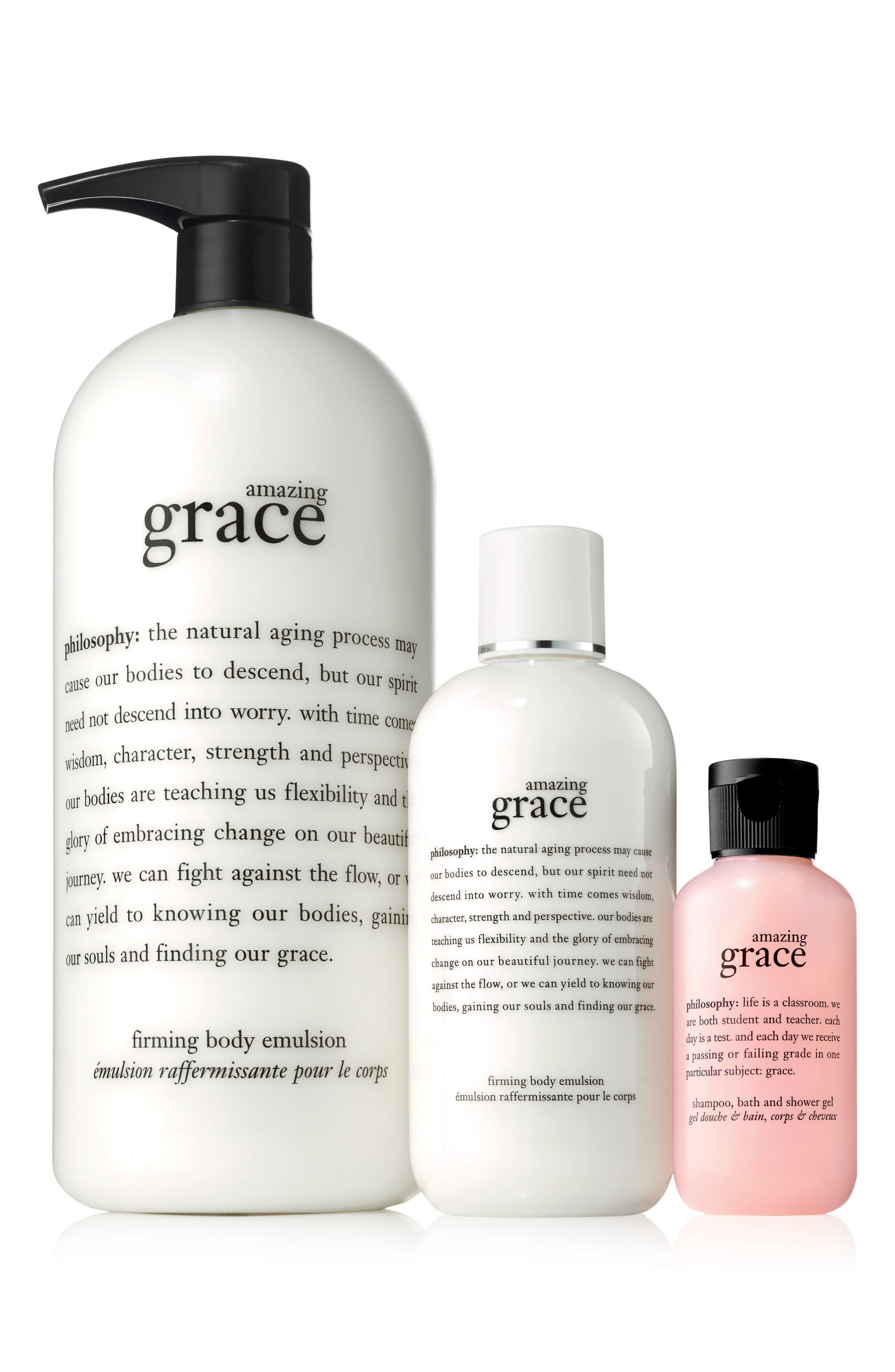 amazing grace body emulsion & shower gel set,                             Main thumbnail 1, color,