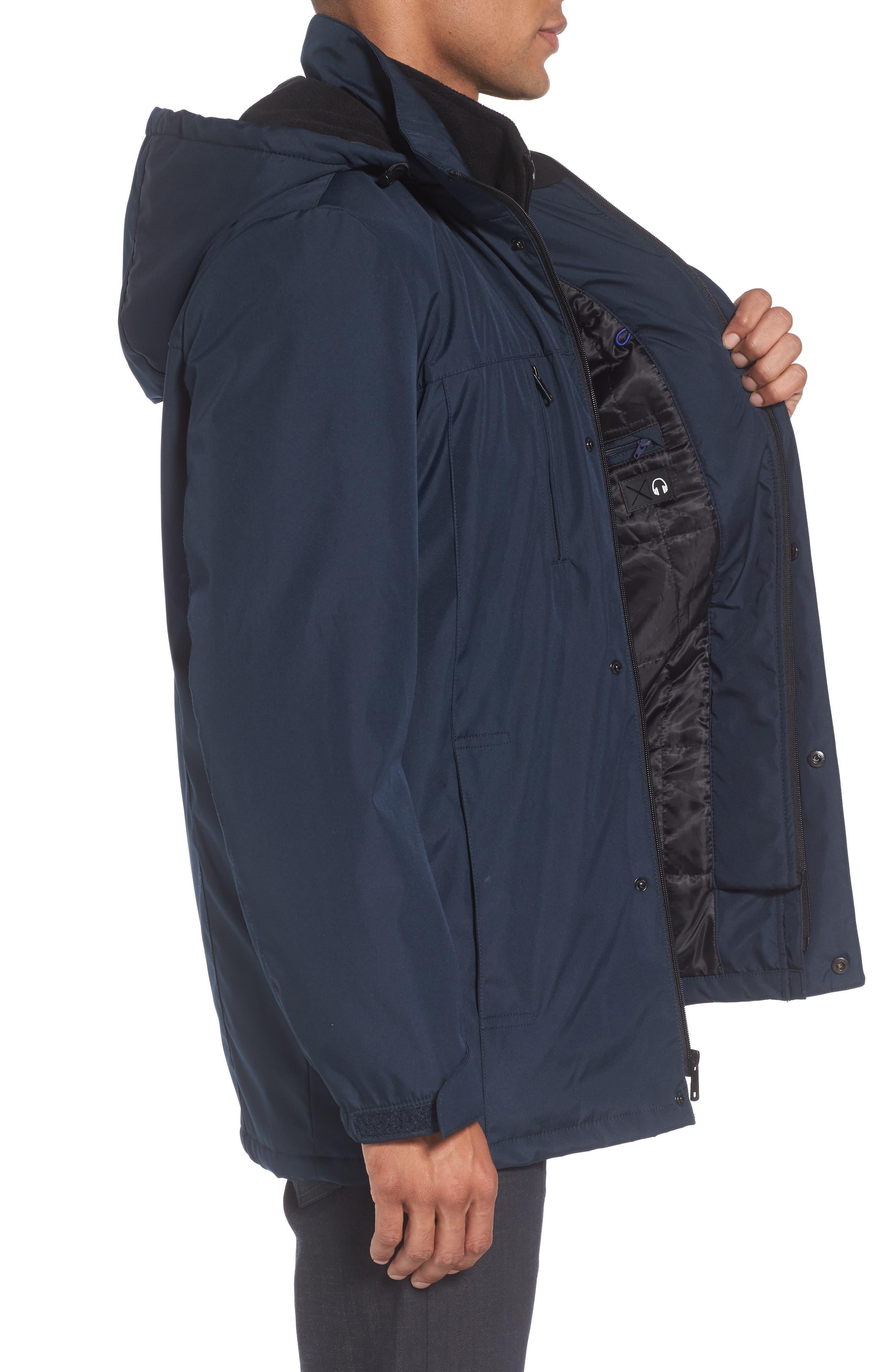 Hooded Jacket with Inset Fleece Bib,                             Alternate thumbnail 12, color,