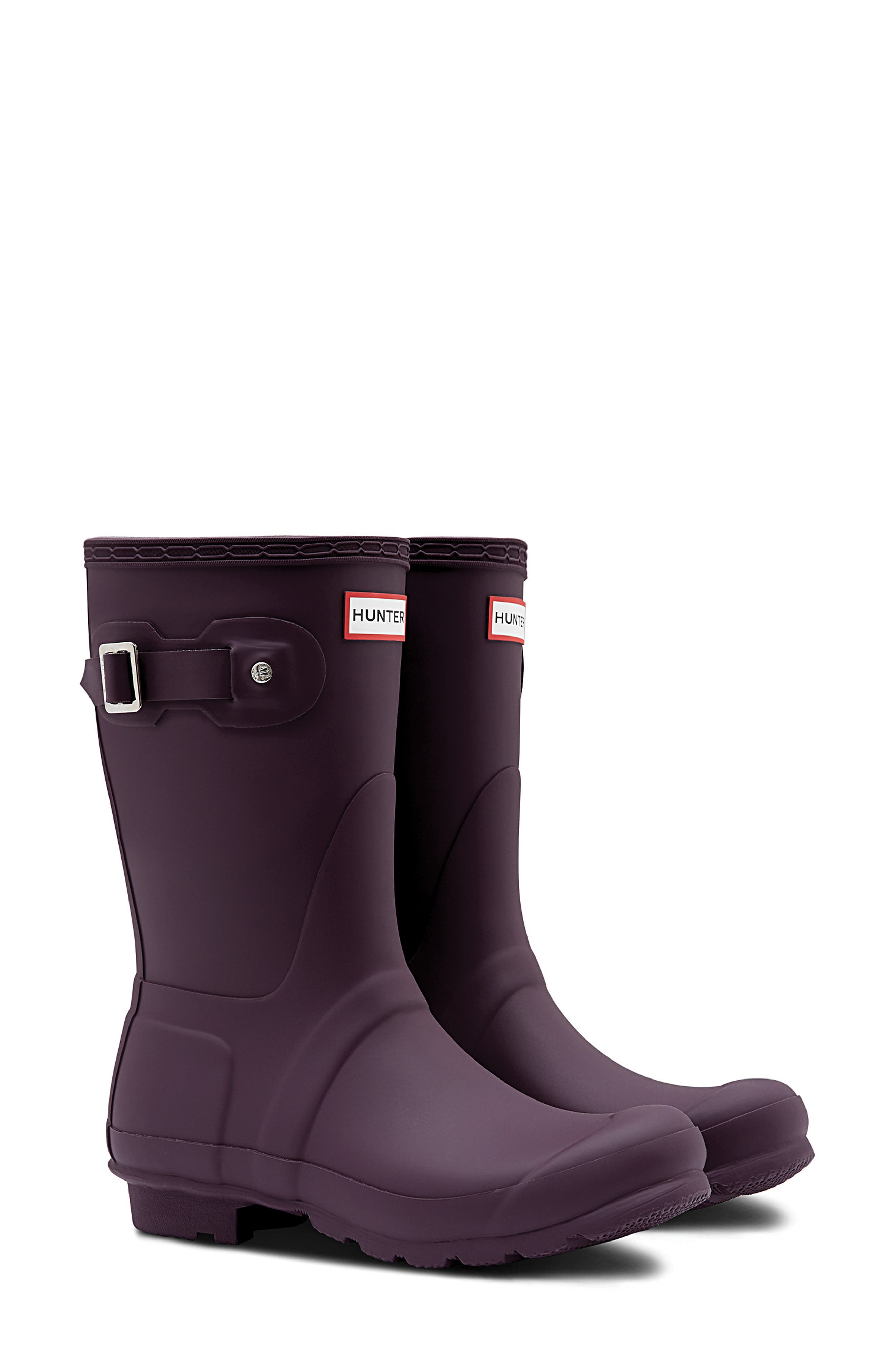 Original Short Rain Boot,                         Main,                         color, BLACK GRAPE