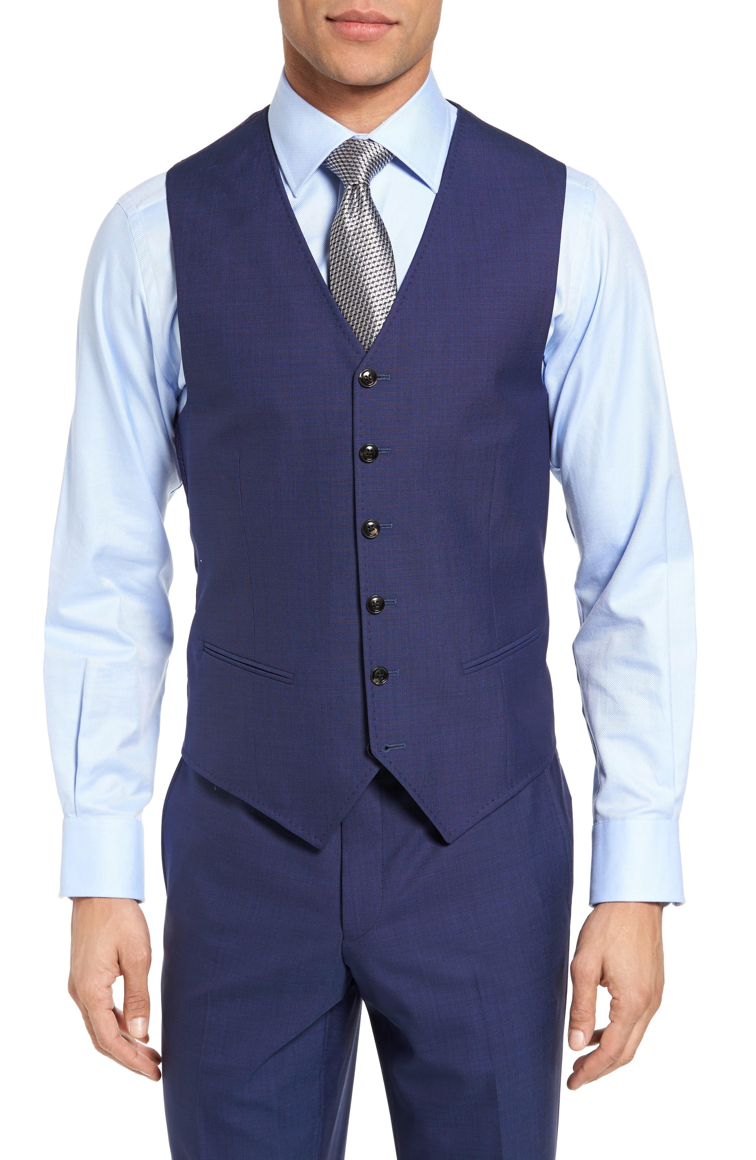 Jones Trim Fit Wool Vest,                             Main thumbnail 4, color,