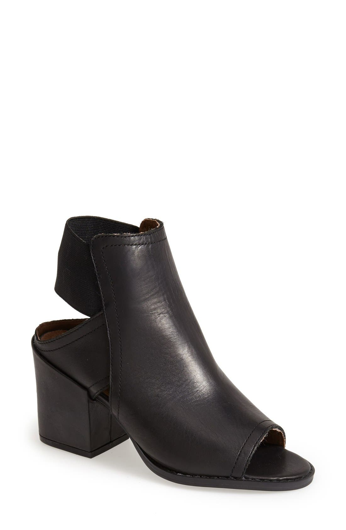 'Polly' Open Toe Bootie, Main, color, 001