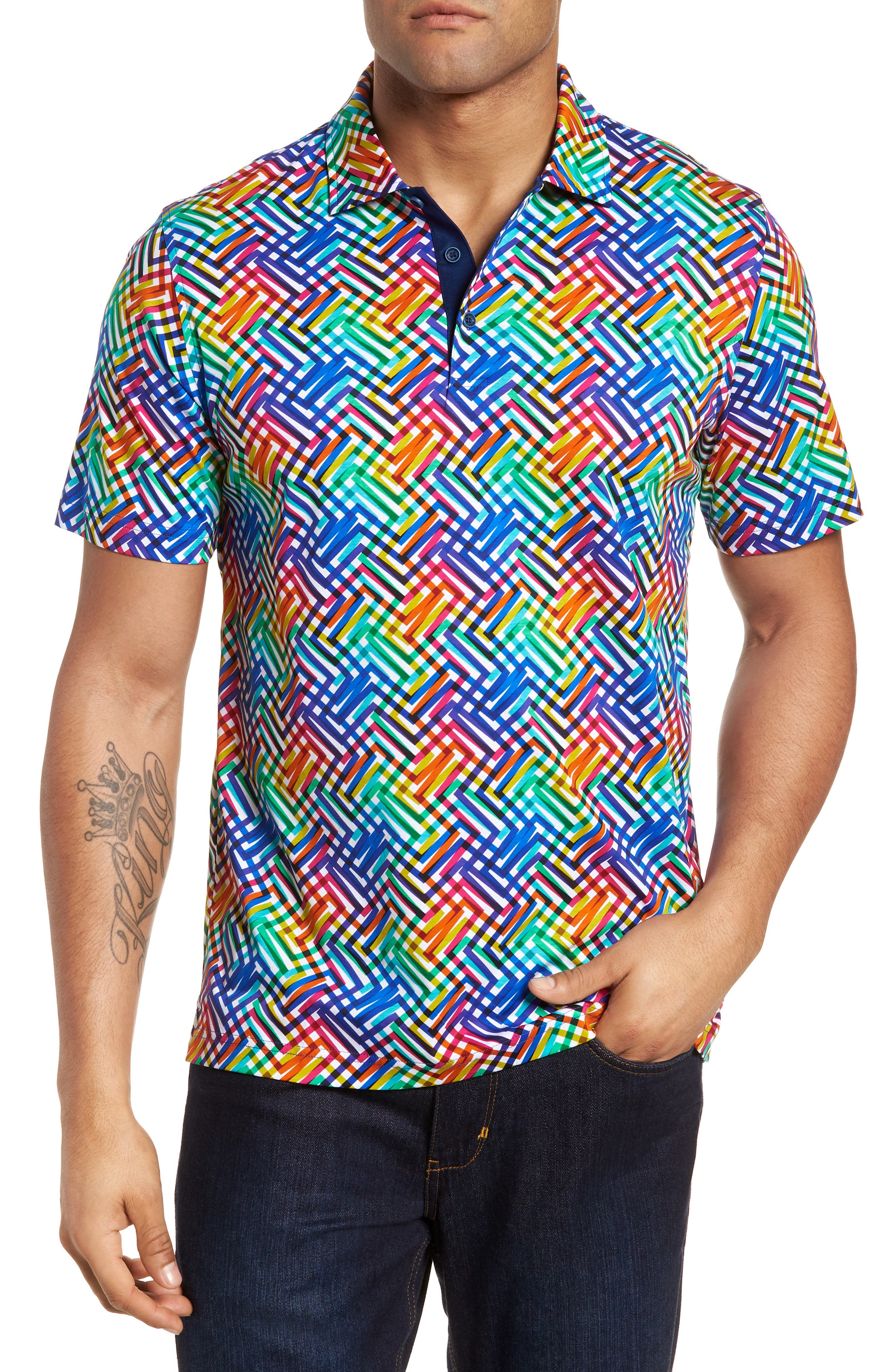BUGATCHI Regular Fit Knit Polo, Main, color, CANDY