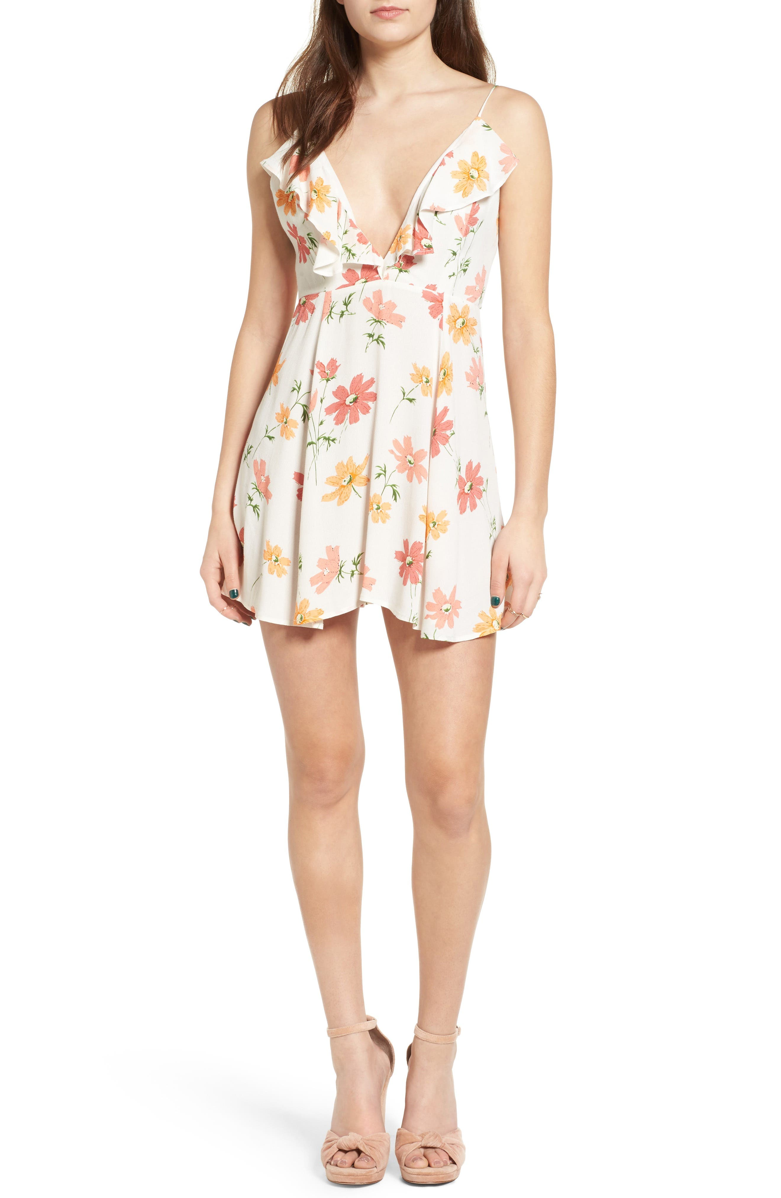 PRIVACY PLEASE,                             Sigbee Floral Dress,                             Main thumbnail 1, color,                             900