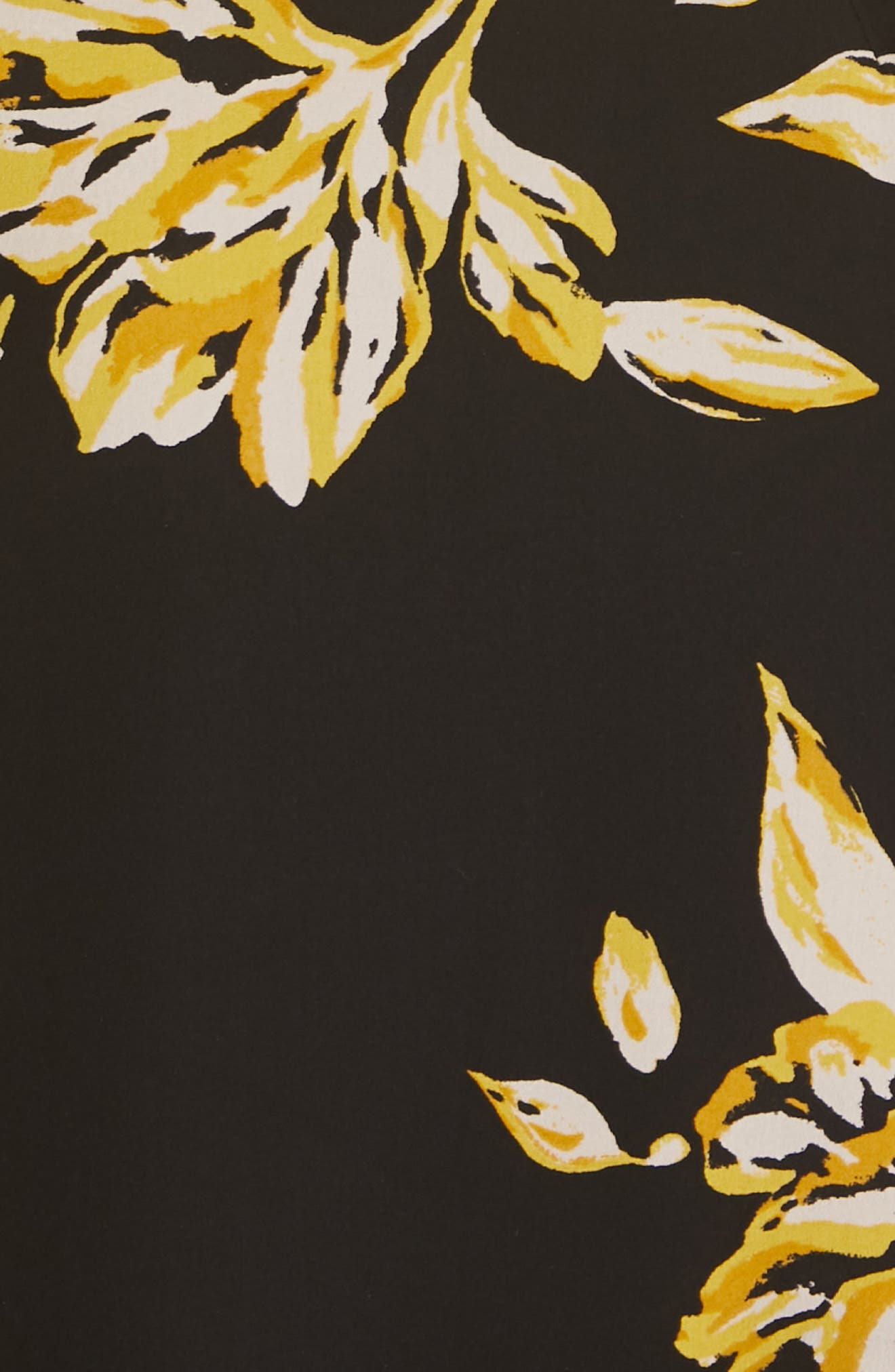 Gyan Floral Silk Dress,                             Alternate thumbnail 6, color,                             CAVIAR