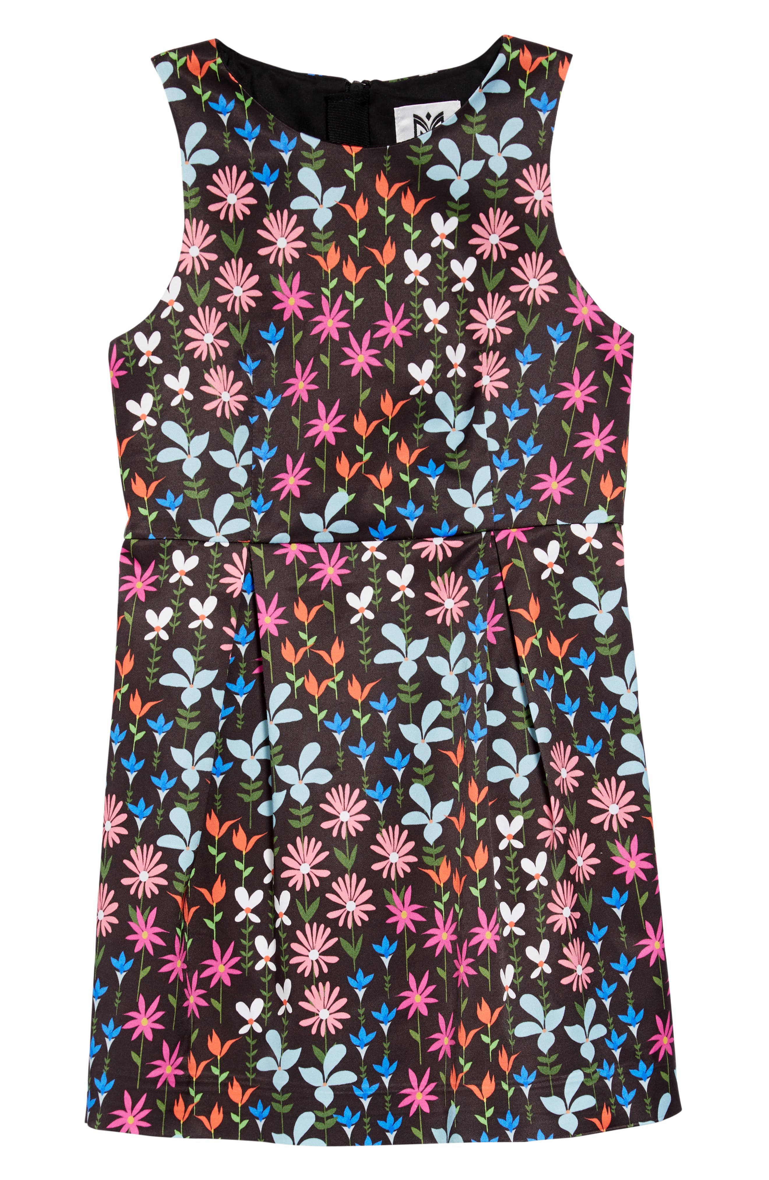 MILLY MINIS Milly Wildflower Sheath Dress, Main, color, 001