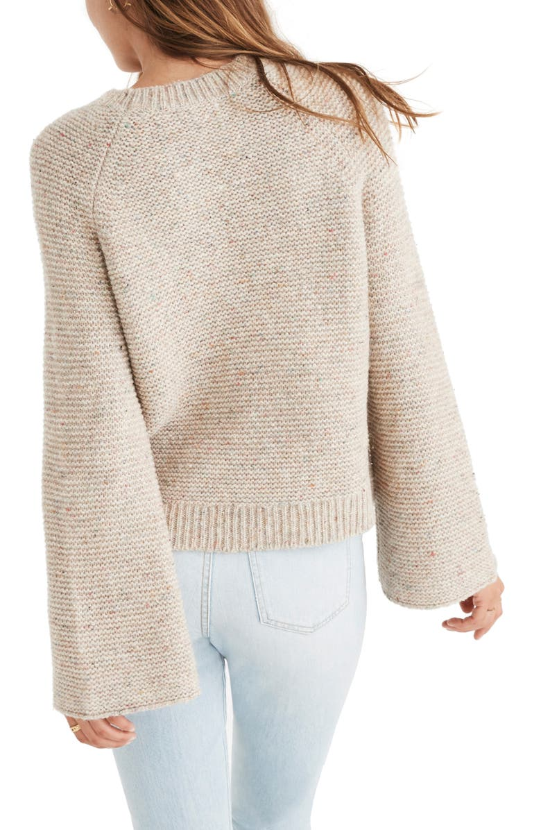 Flecked Wide Sleeve Sweater, Alternate, color, DONEGAL FUNFETTI