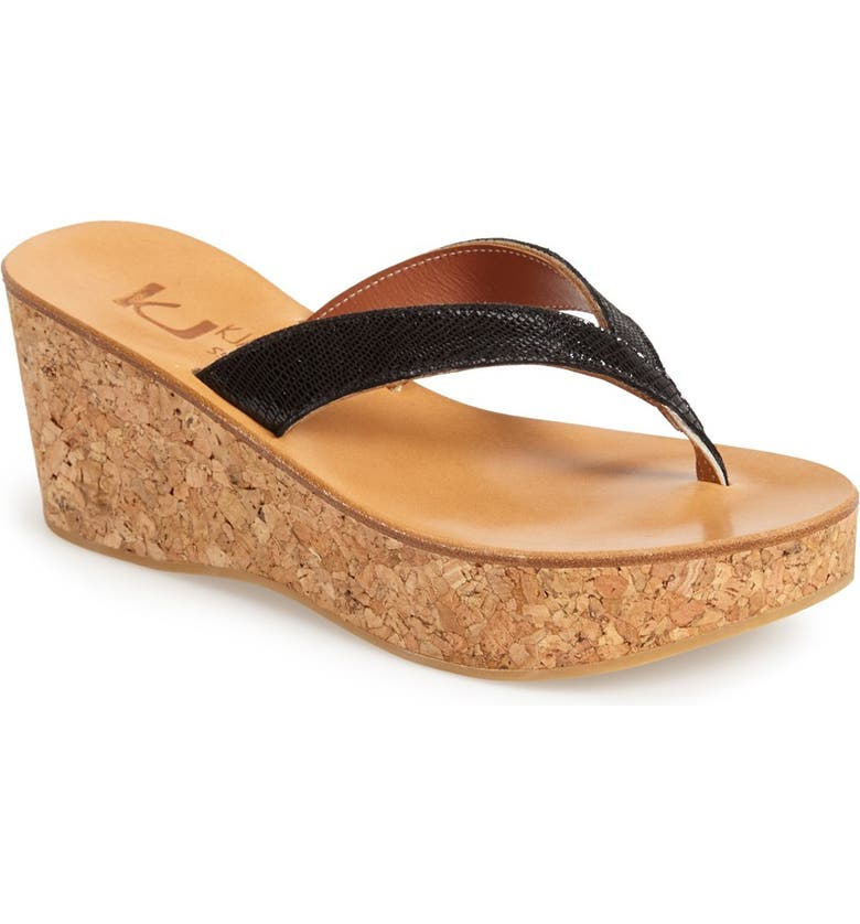 76f393629e7 K.Jacques St. Tropez Thong Wedge Sandal (Women)
