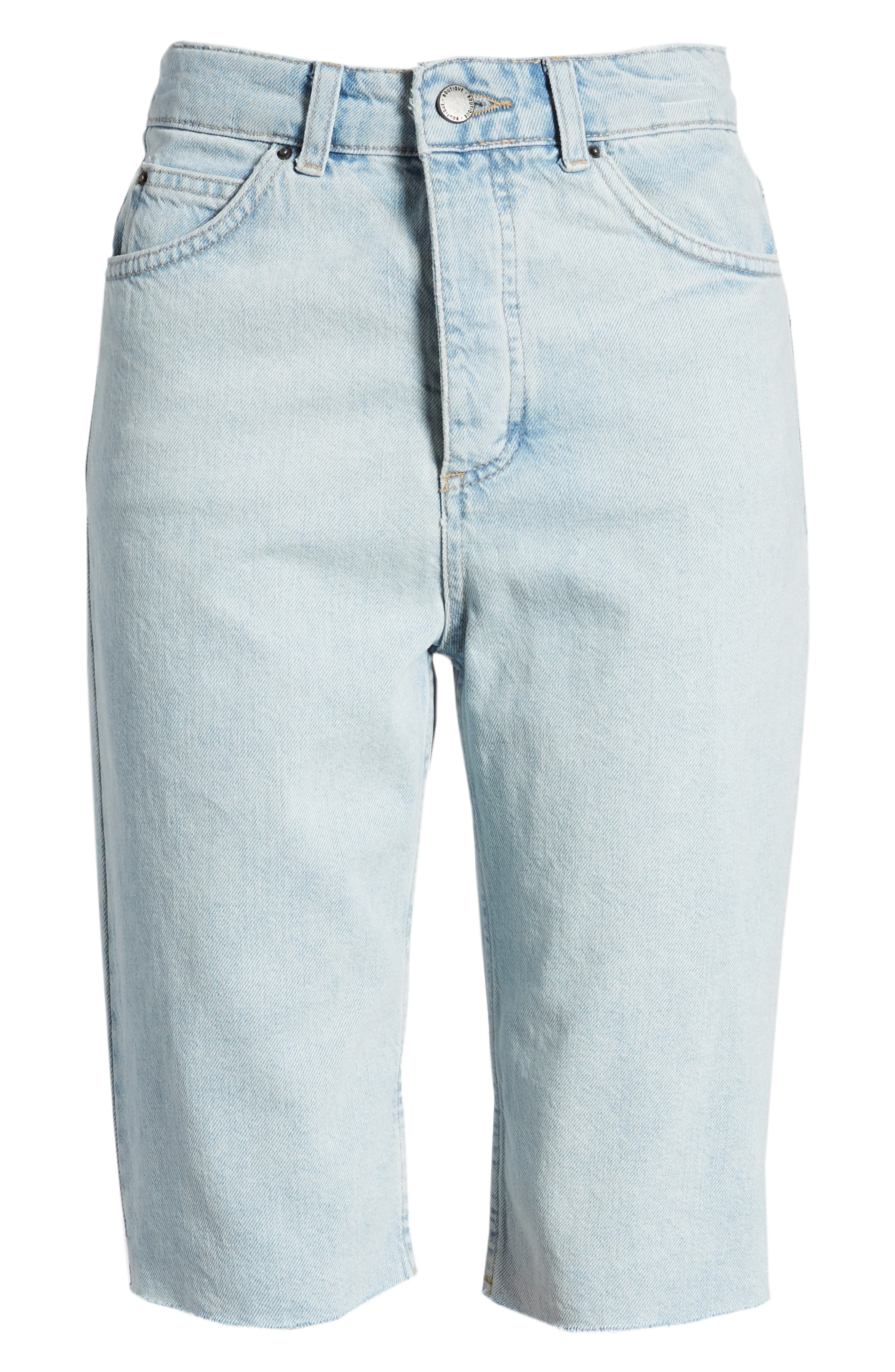 Bleach Denim Board Shorts,                             Alternate thumbnail 7, color,                             420