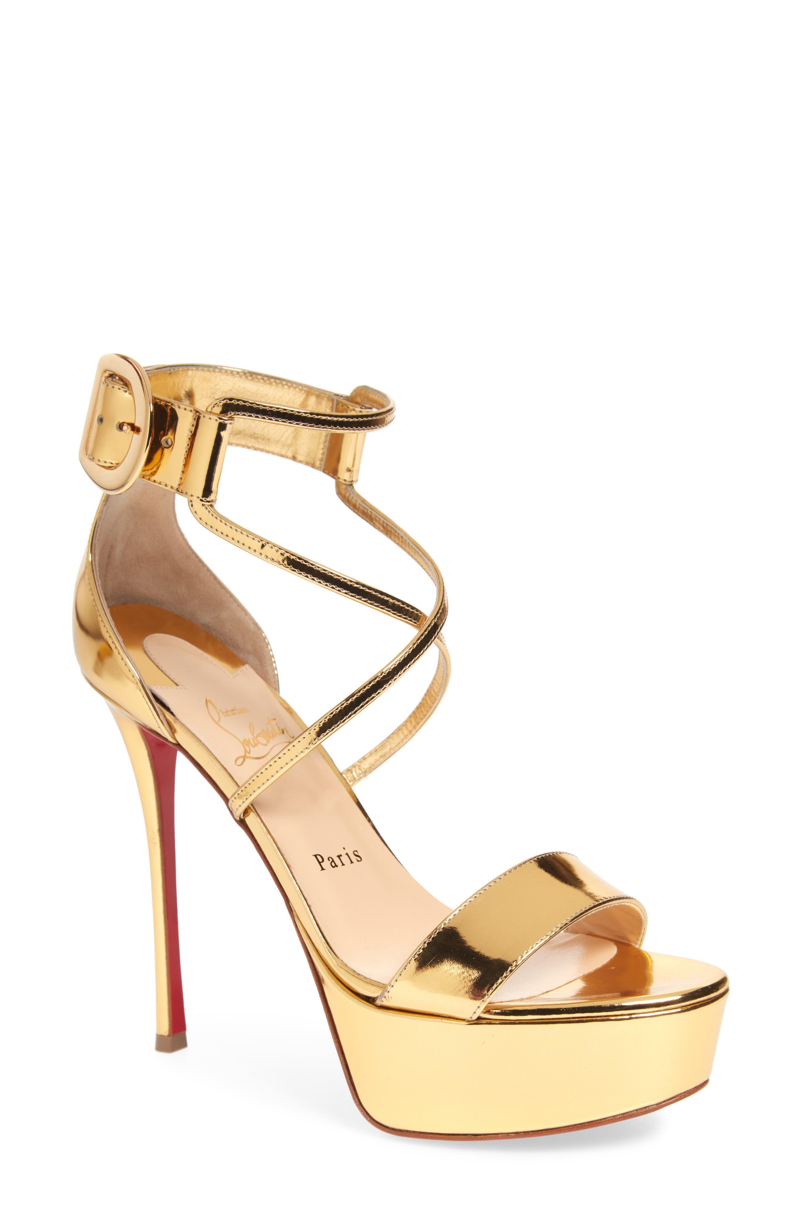 Choca Platform Sandal,                             Main thumbnail 1, color,                             GOLD