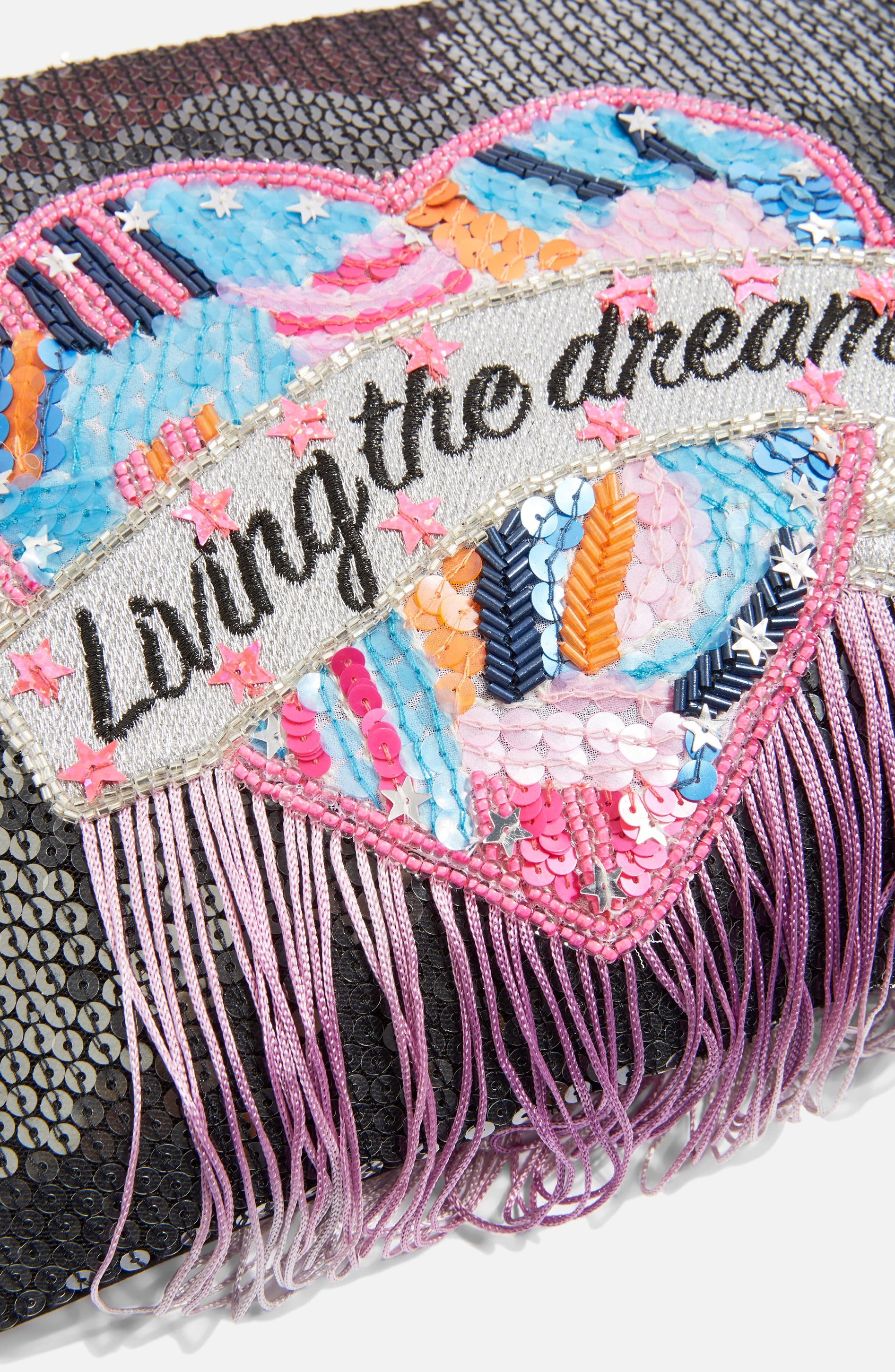 Living The Dream Crossbody Bag,                             Alternate thumbnail 3, color,                             BLACK MULTI