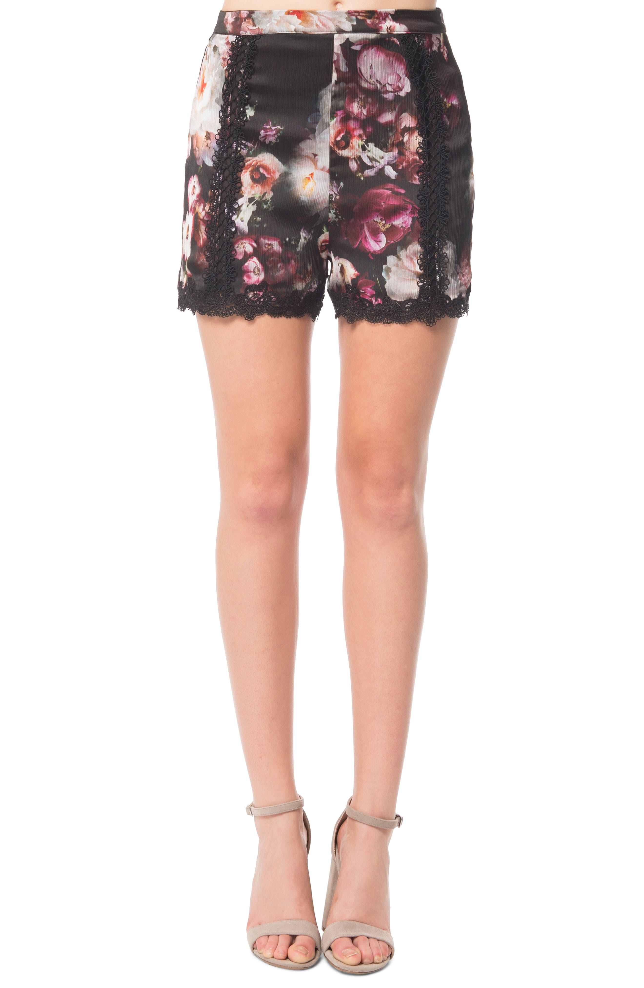 Lingerie Print Shorts,                         Main,                         color, 503