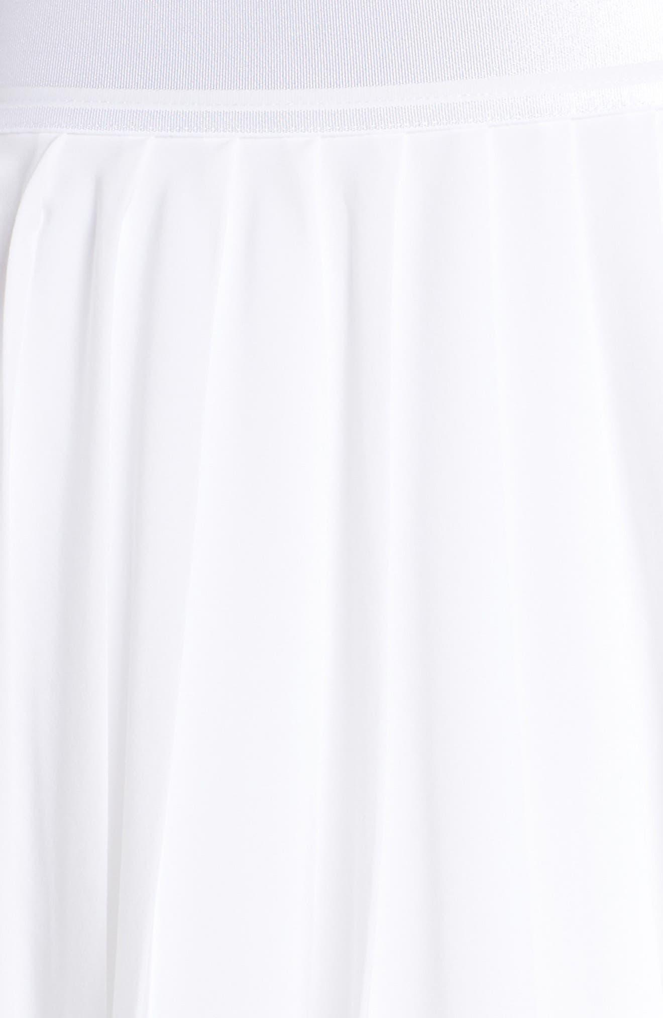 Court Victory Tennis Skirt,                             Alternate thumbnail 6, color,                             WHITE/ BLACK