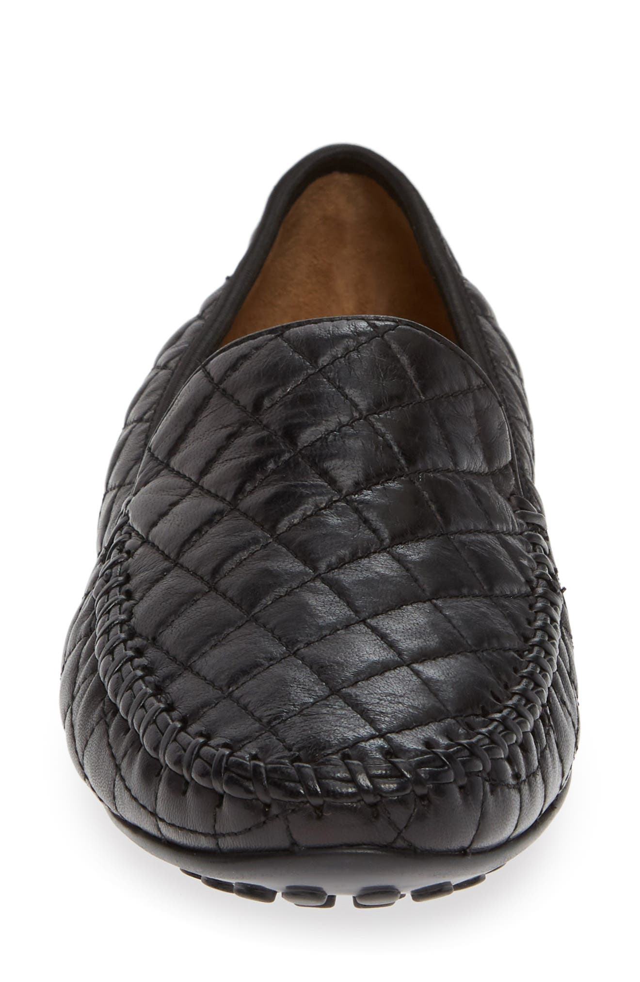 'Quana' Loafer,                             Alternate thumbnail 4, color,                             BLACK