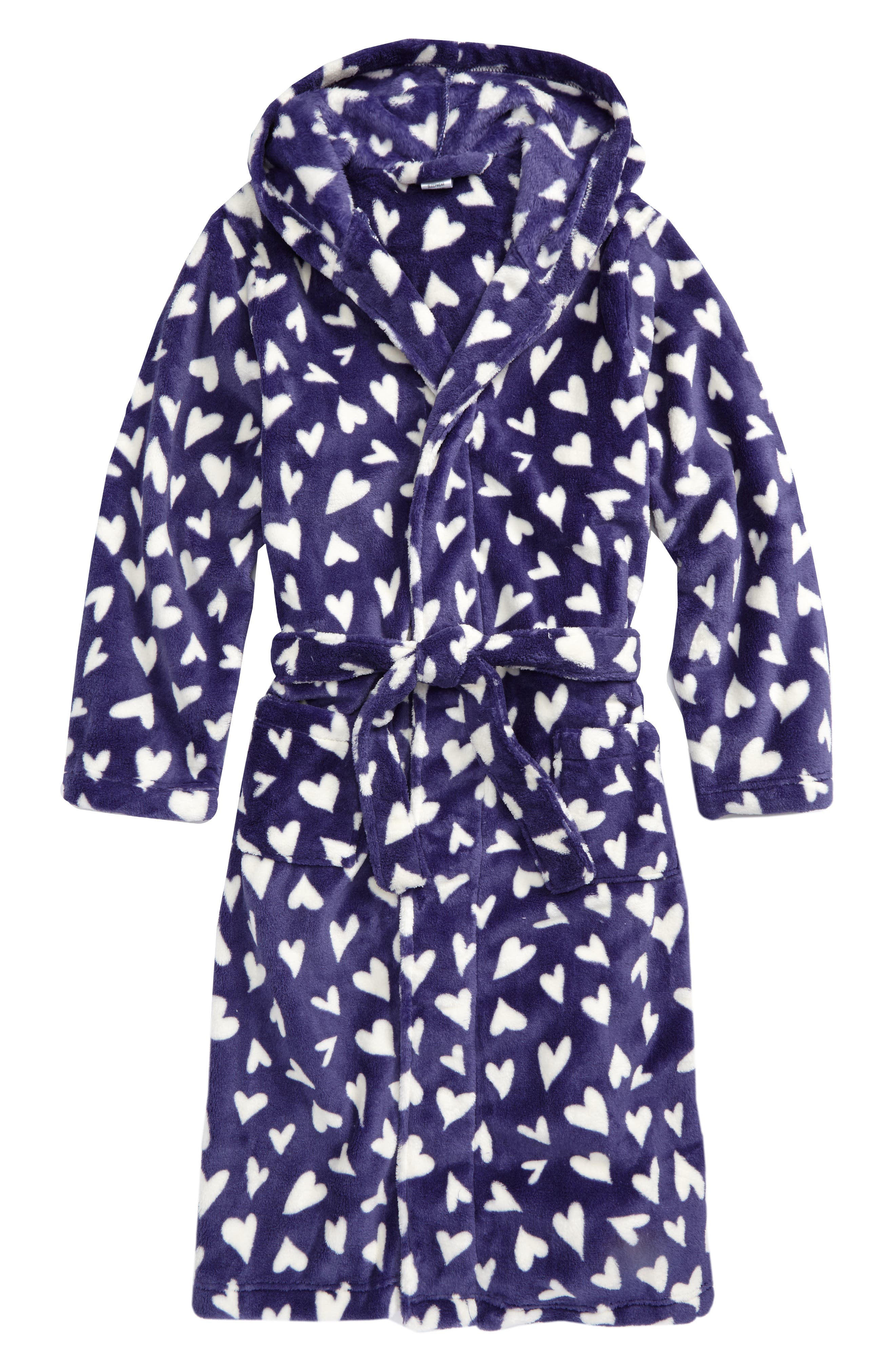 Hooded Fleece Robe, Main, color, 410