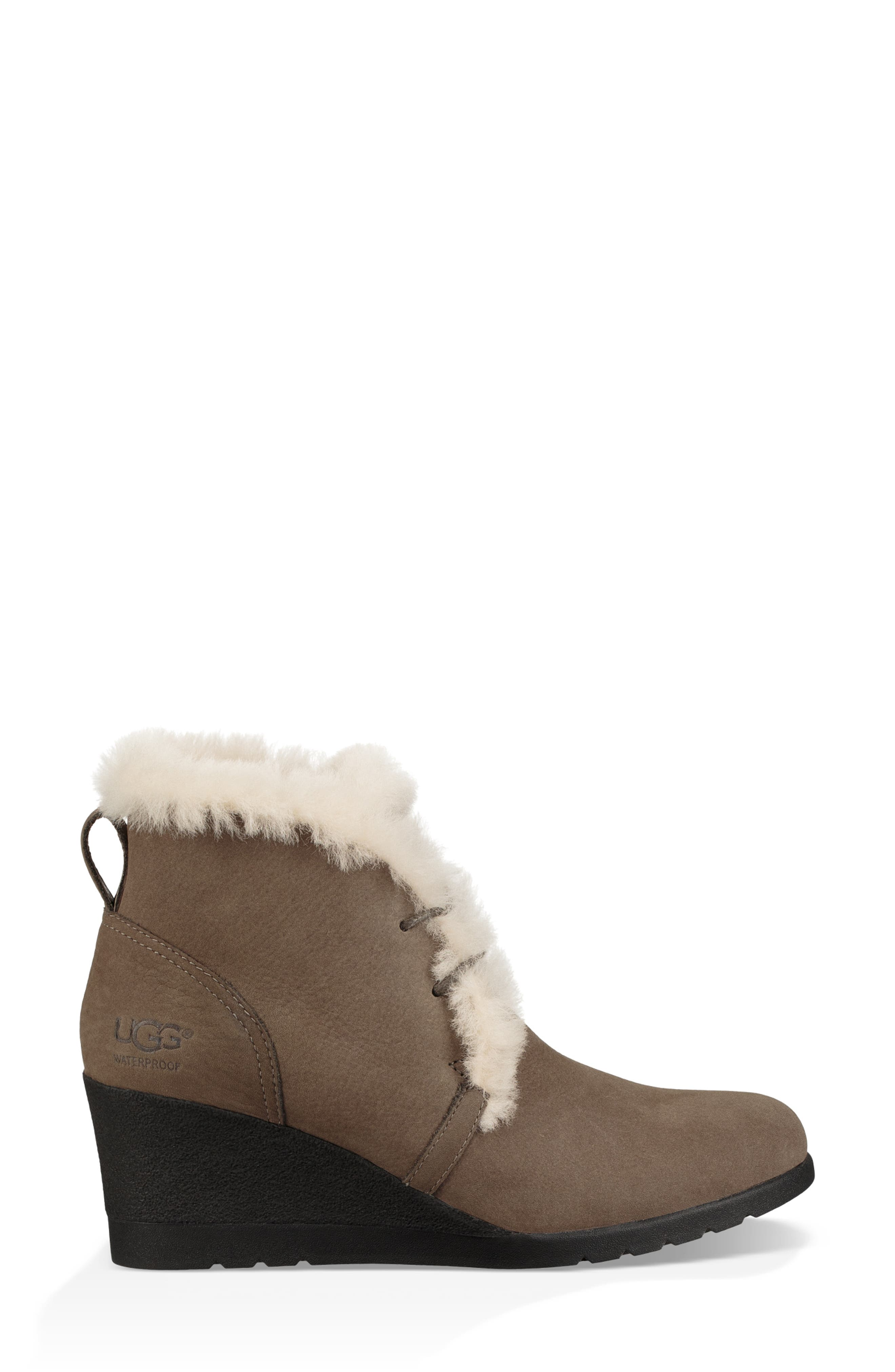 Jeovana Waterproof Genuine Shearling Lined Boot,                             Alternate thumbnail 3, color,                             MYSTERIOUS