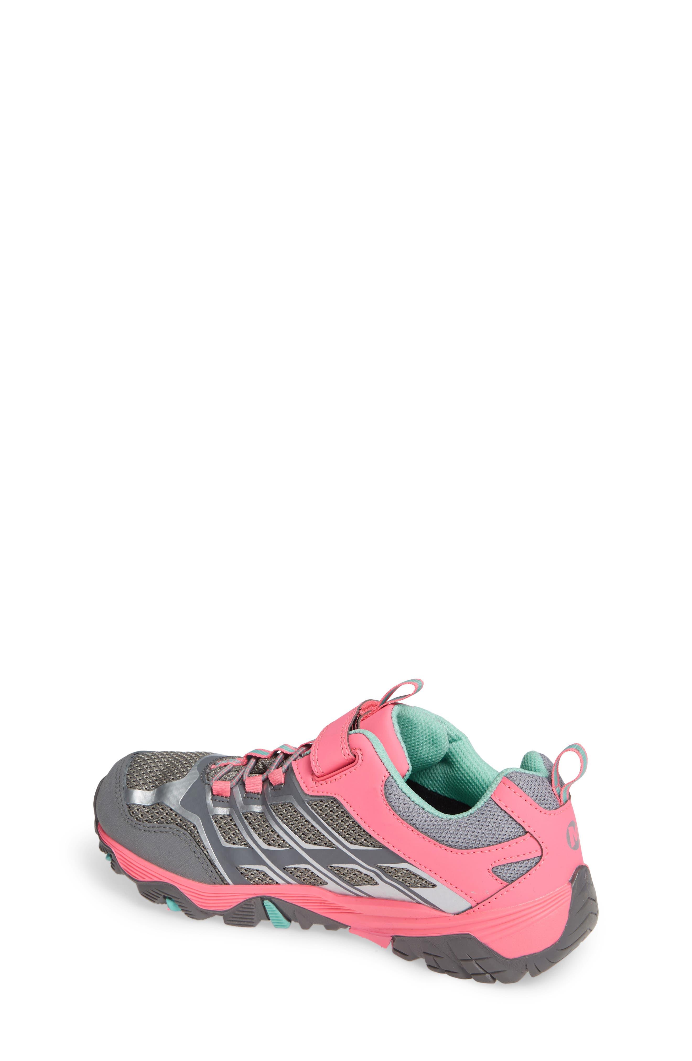 Moab FST Polar Low Waterproof Sneaker,                             Alternate thumbnail 2, color,                             GREY/ CORAL