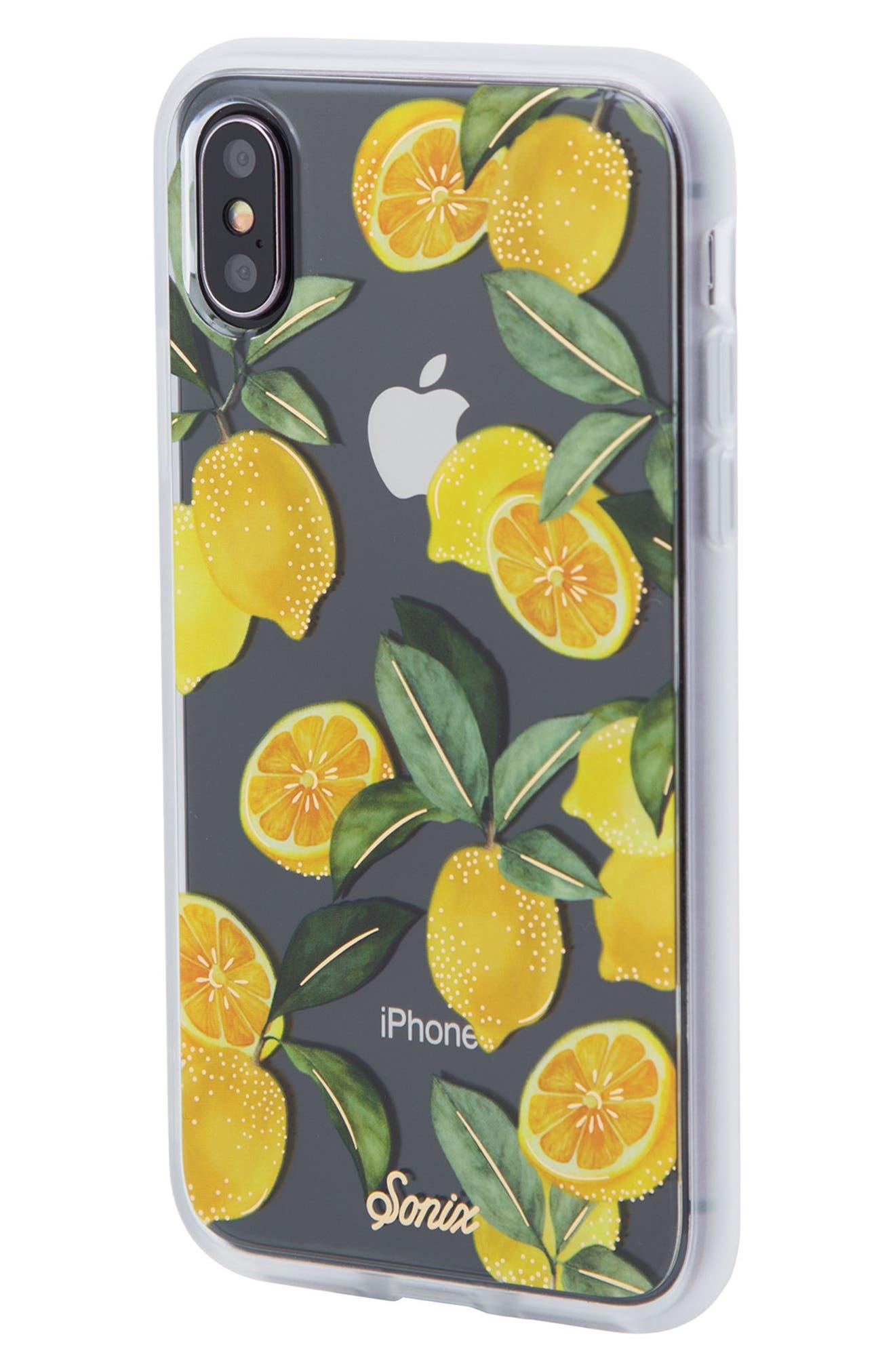 Lemon Zest iPhone X Case,                             Alternate thumbnail 2, color,