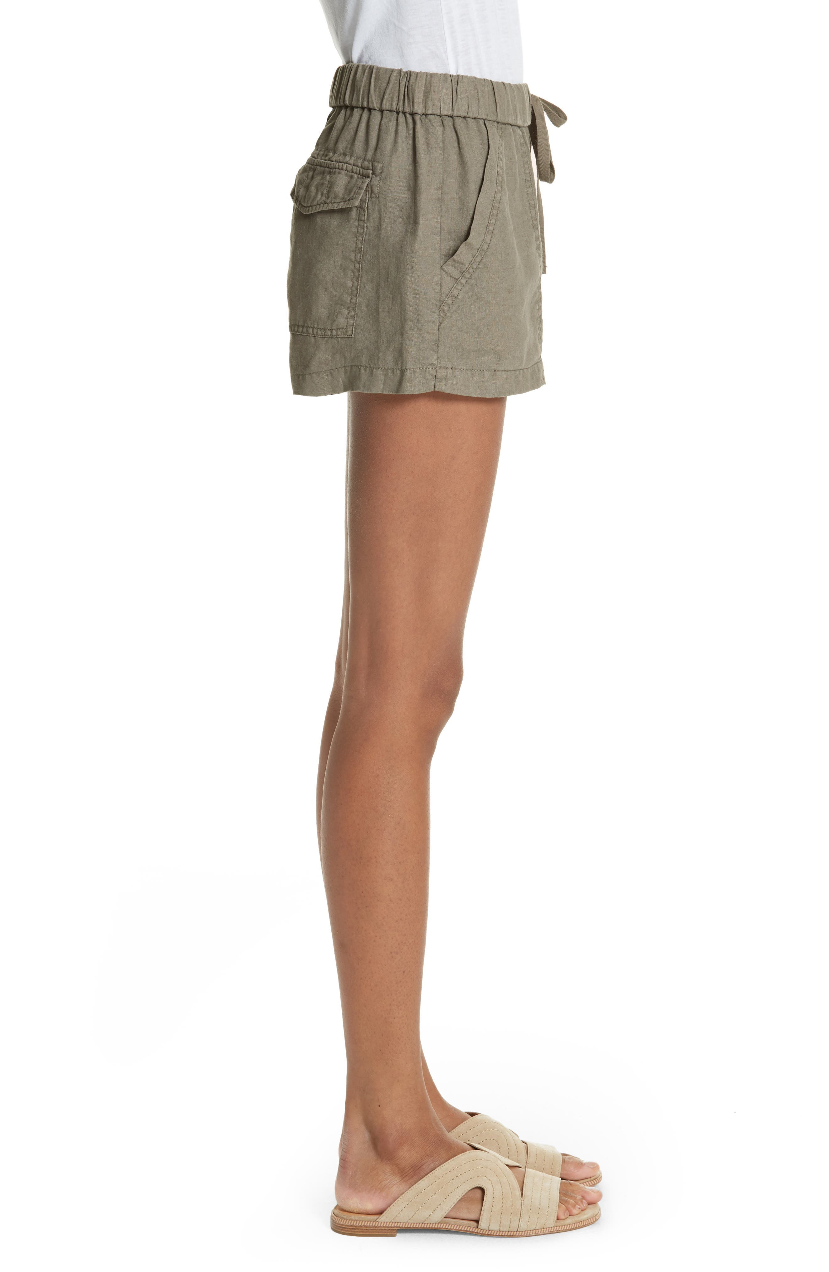 Fosette Linen Drawstring Shorts,                             Alternate thumbnail 5, color,