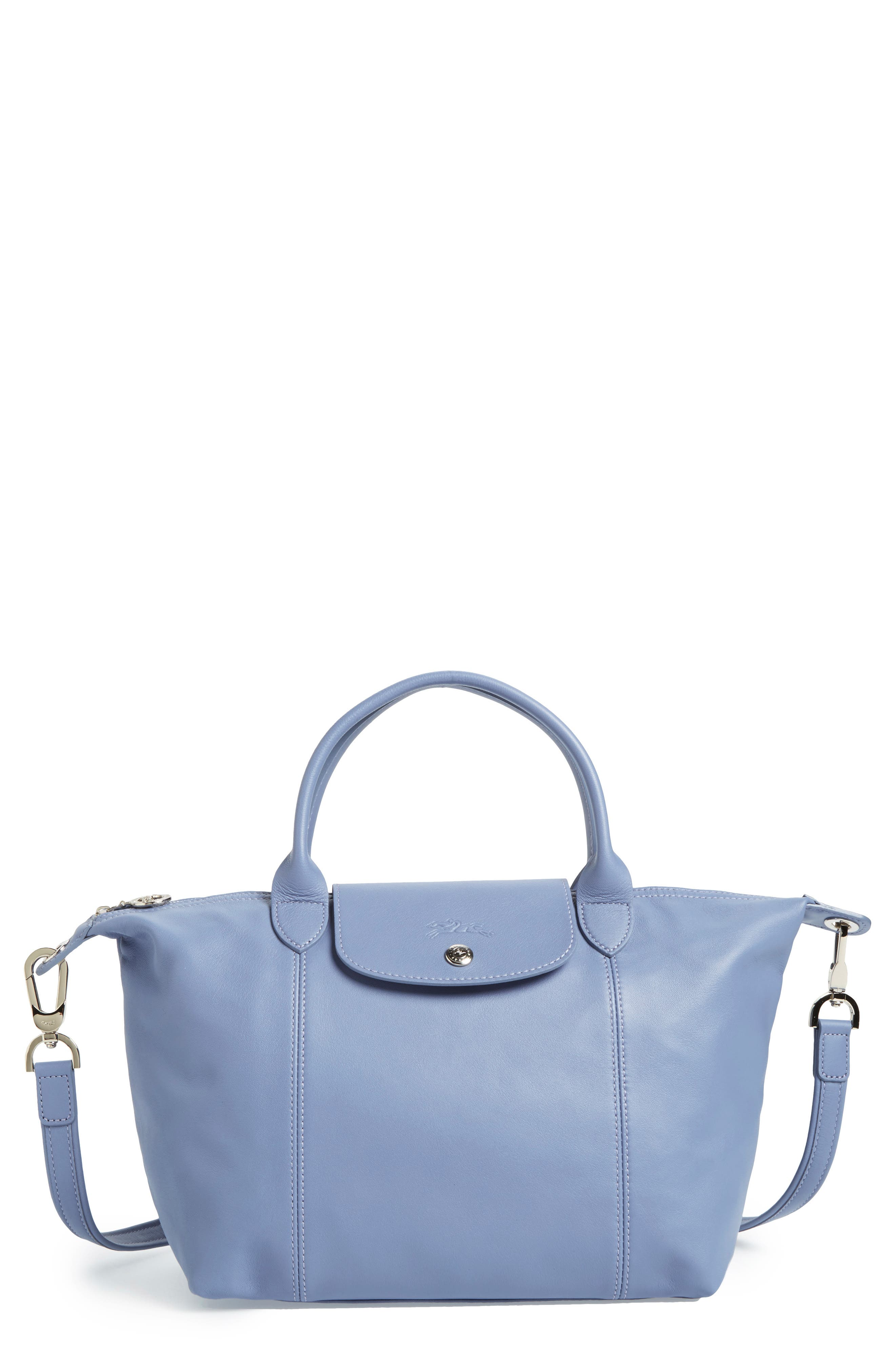 Small 'Le Pliage Cuir' Leather Top Handle Tote,                             Main thumbnail 16, color,