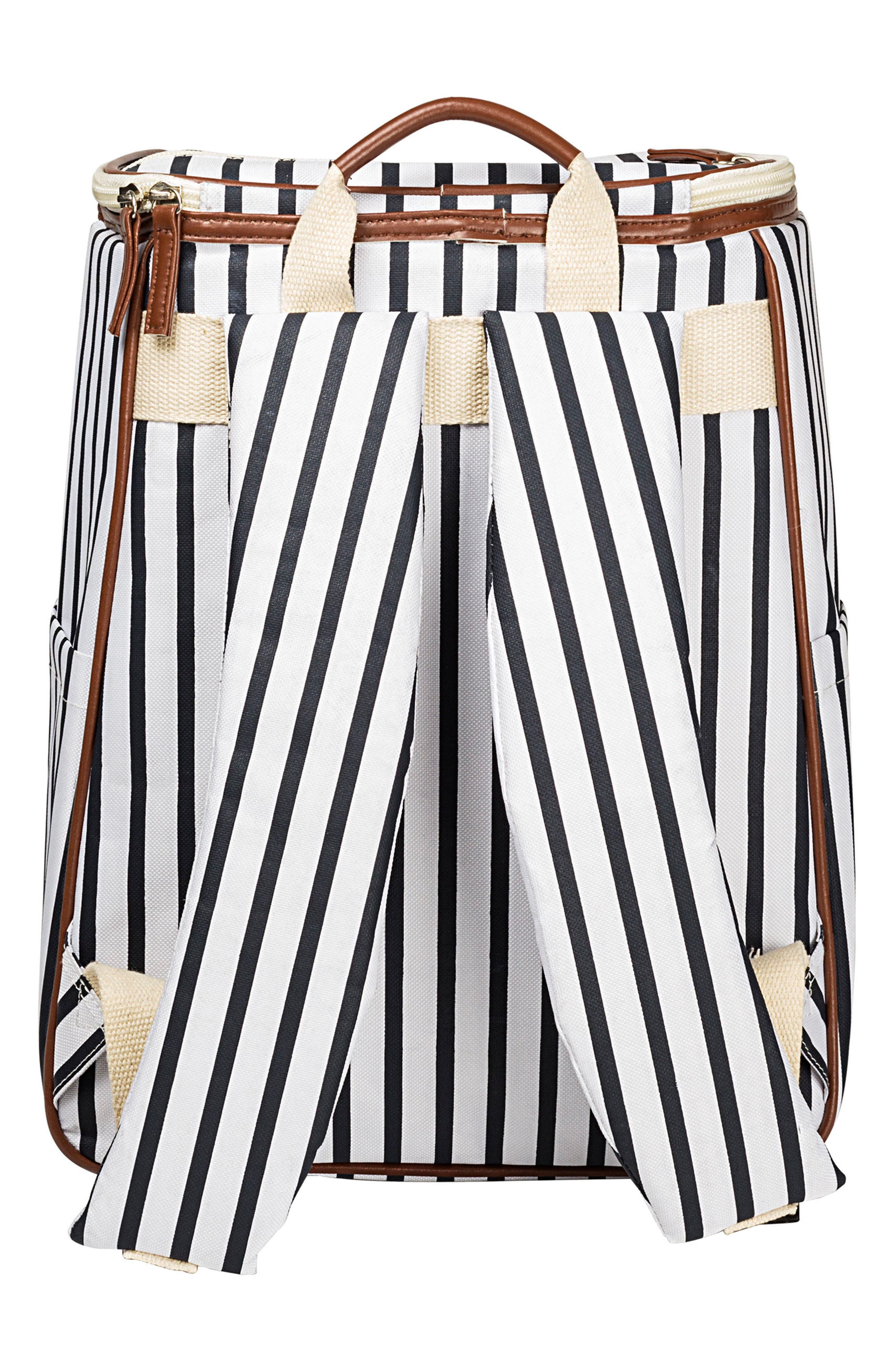 Monogram Stripe Backpack Cooler,                             Alternate thumbnail 2, color,                             BLUE