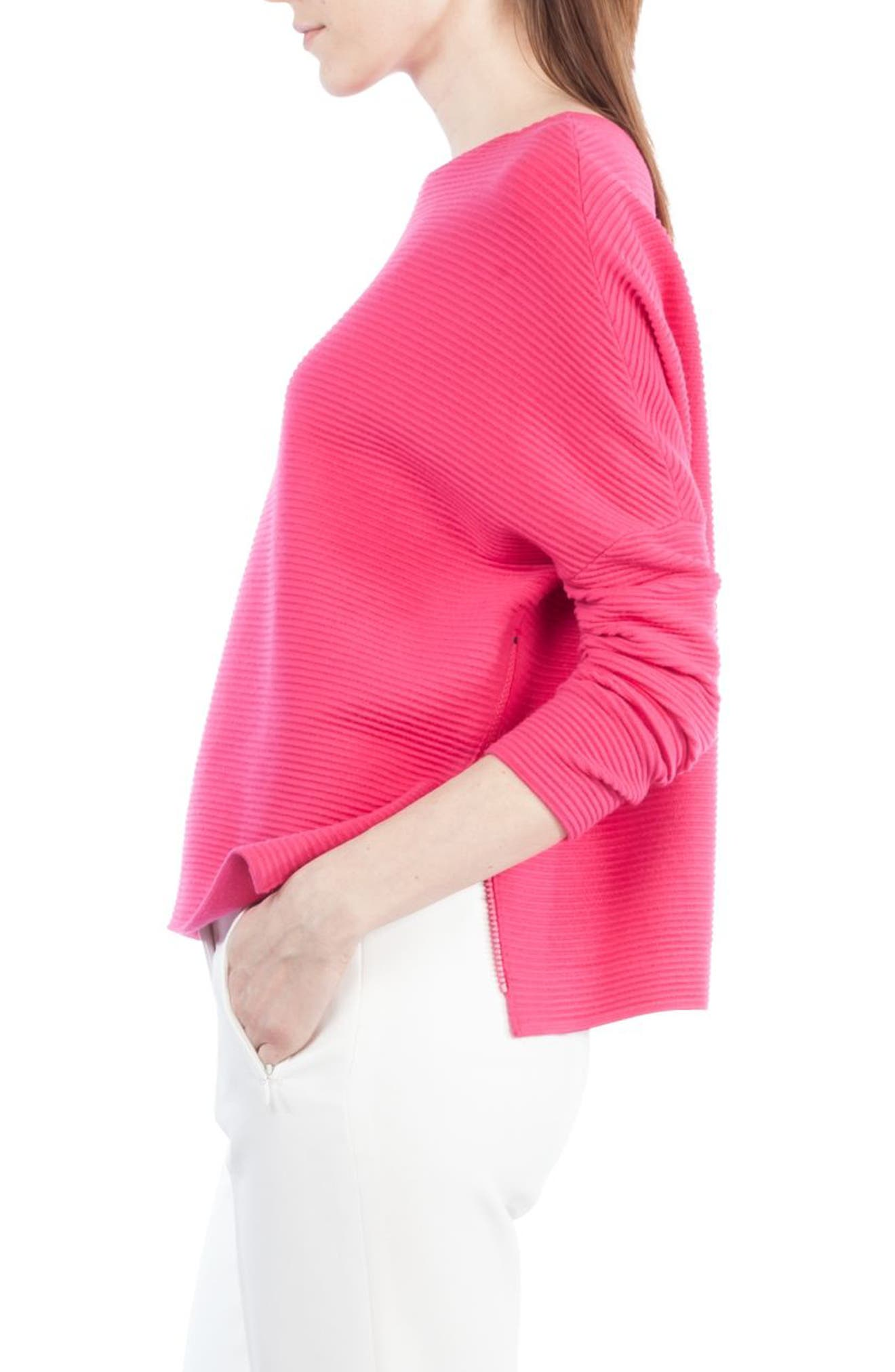 Stretch Wool Pullover,                             Alternate thumbnail 3, color,                             650