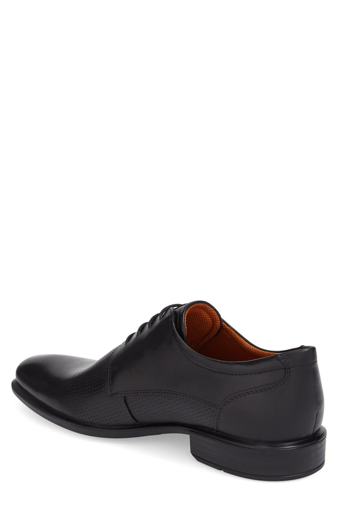 'Cairo' Perforated Plain Toe Derby,                             Alternate thumbnail 2, color,                             001