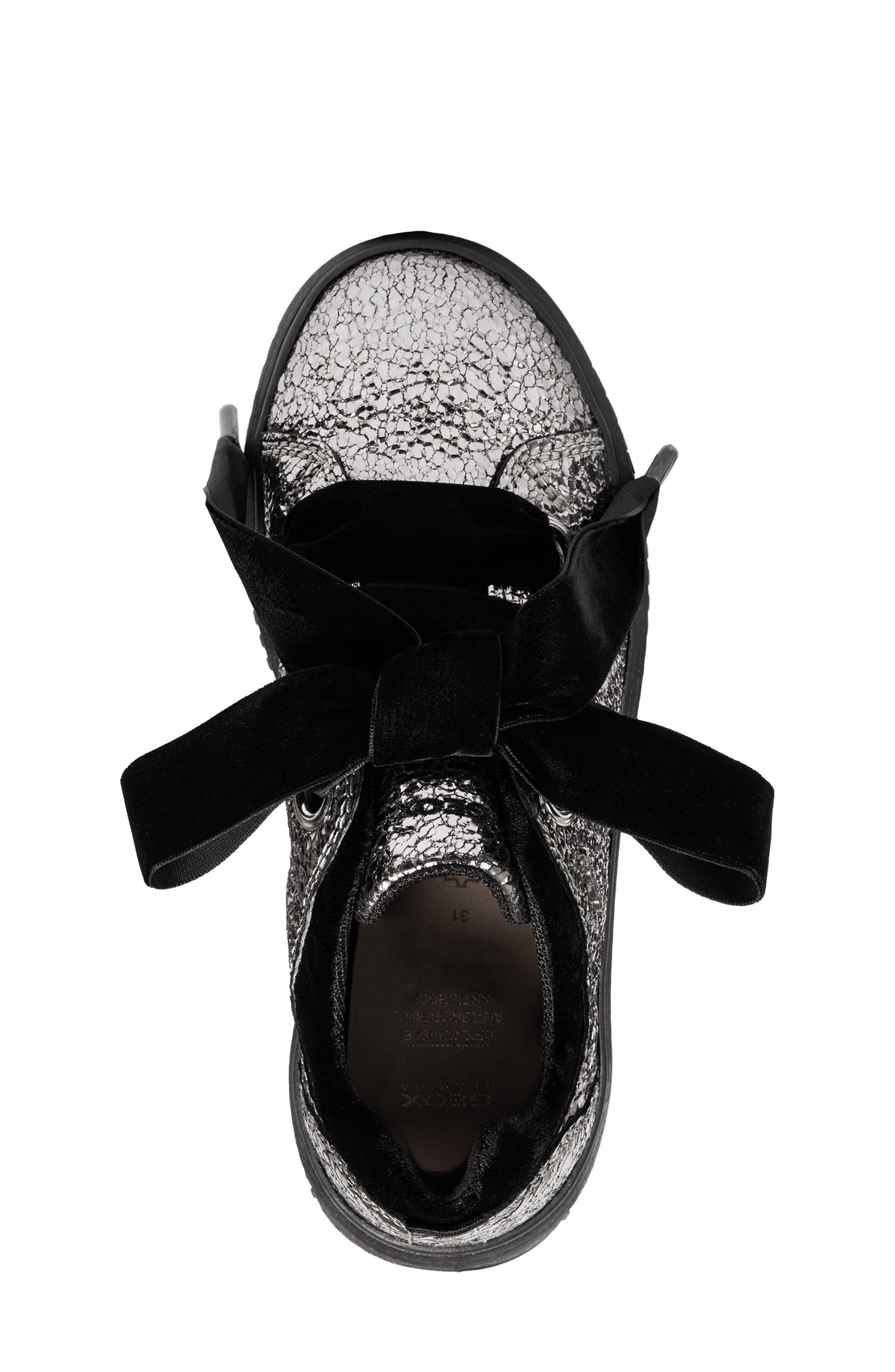 Disco Mix Sneaker,                             Alternate thumbnail 5, color,                             DARK SILVER