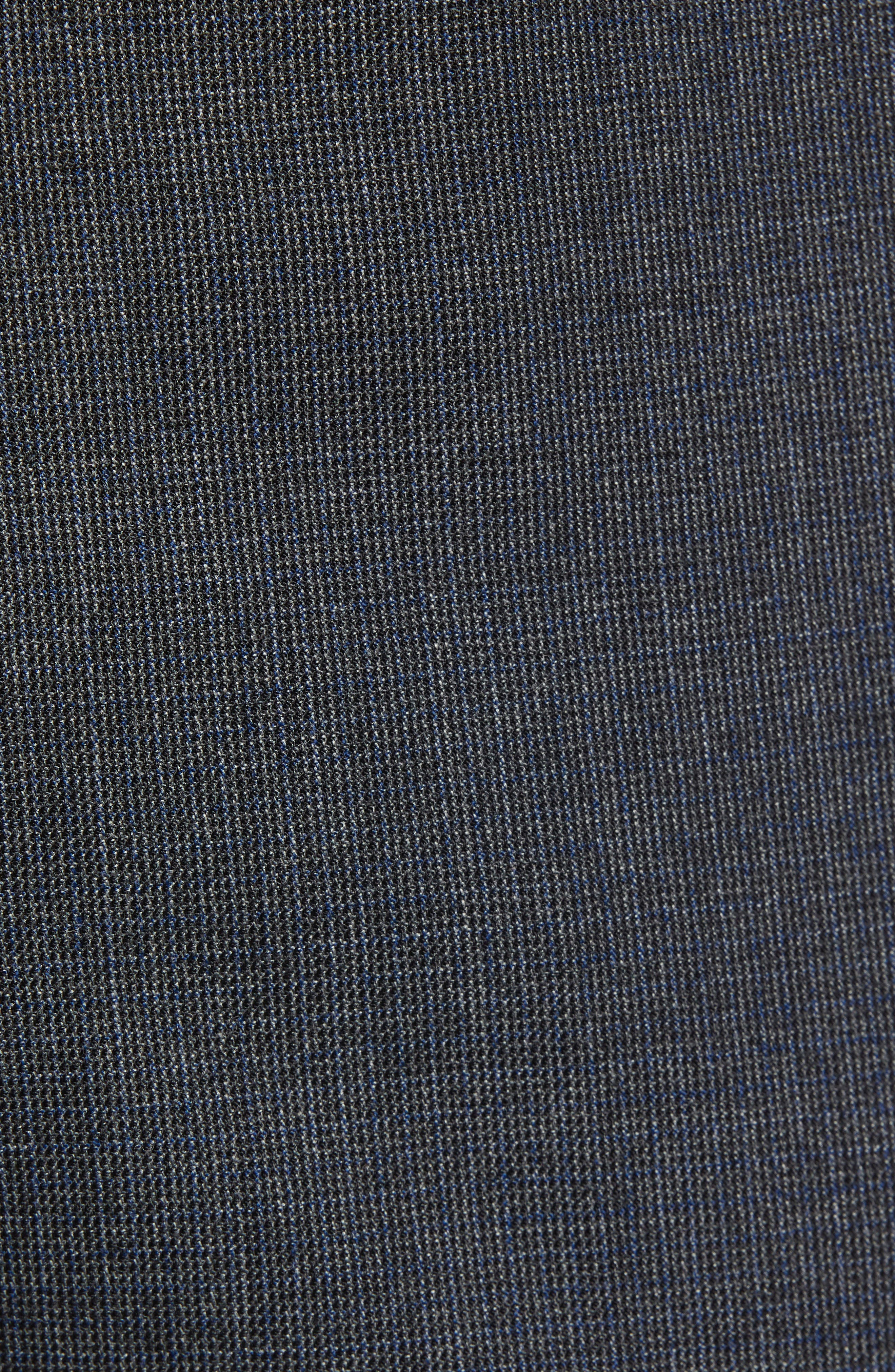 Leenon Flat Front Solid Wool Trousers,                             Alternate thumbnail 5, color,                             OPEN BLUE
