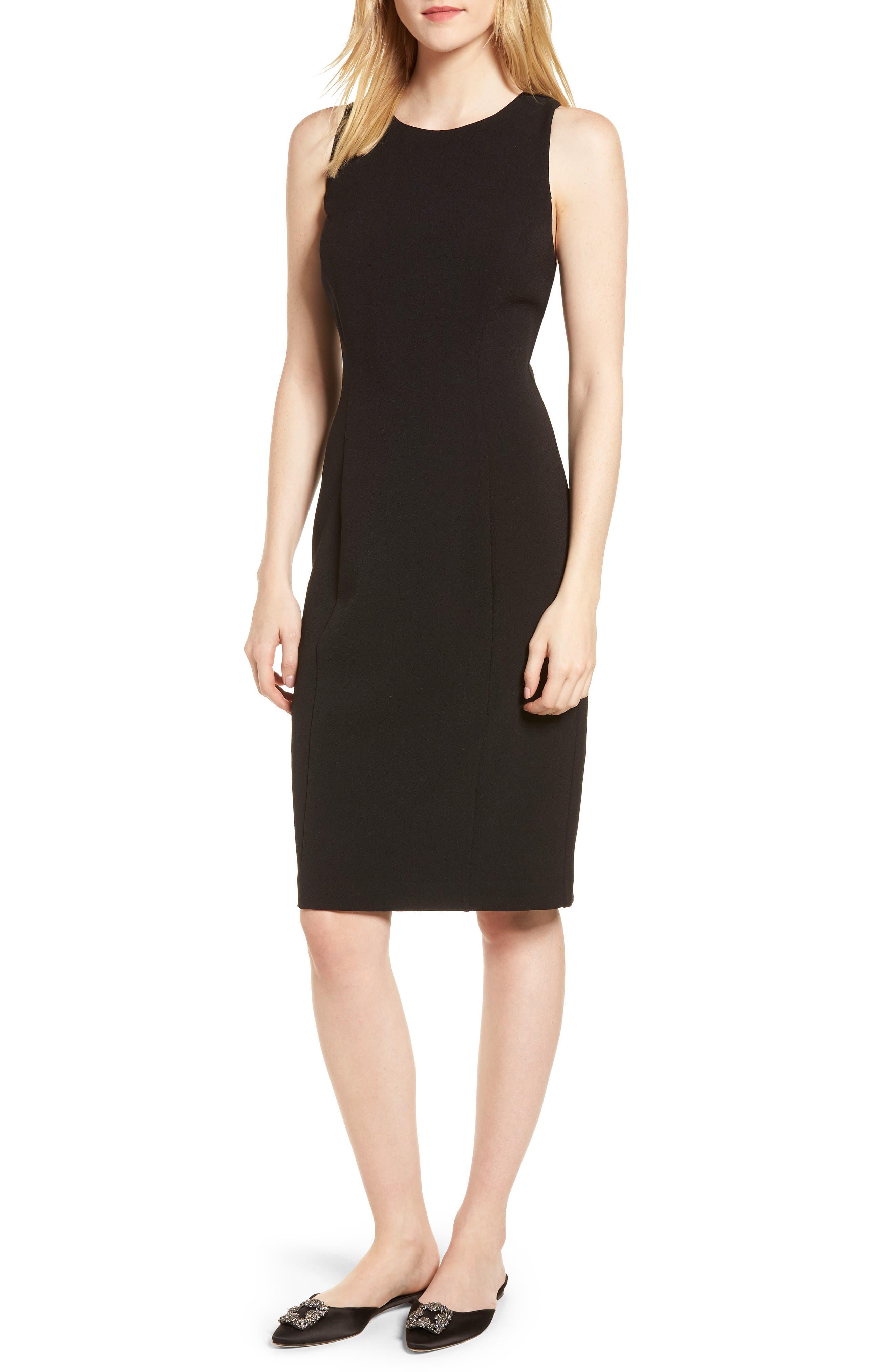 Bow Back Sheath Dress,                         Main,                         color, 001