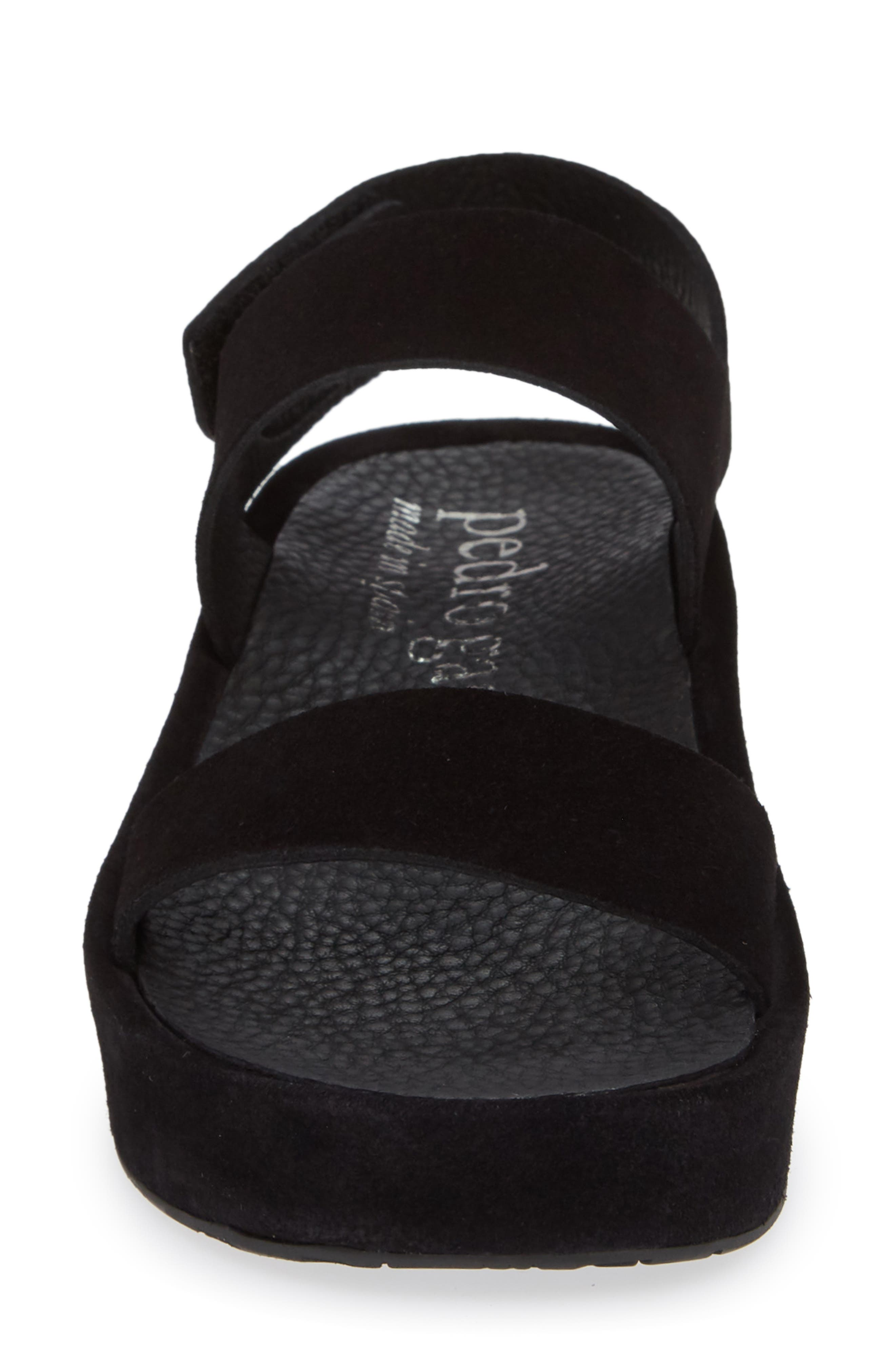 Lacey Footbed Sandal,                             Alternate thumbnail 4, color,                             BLACK CASTORO