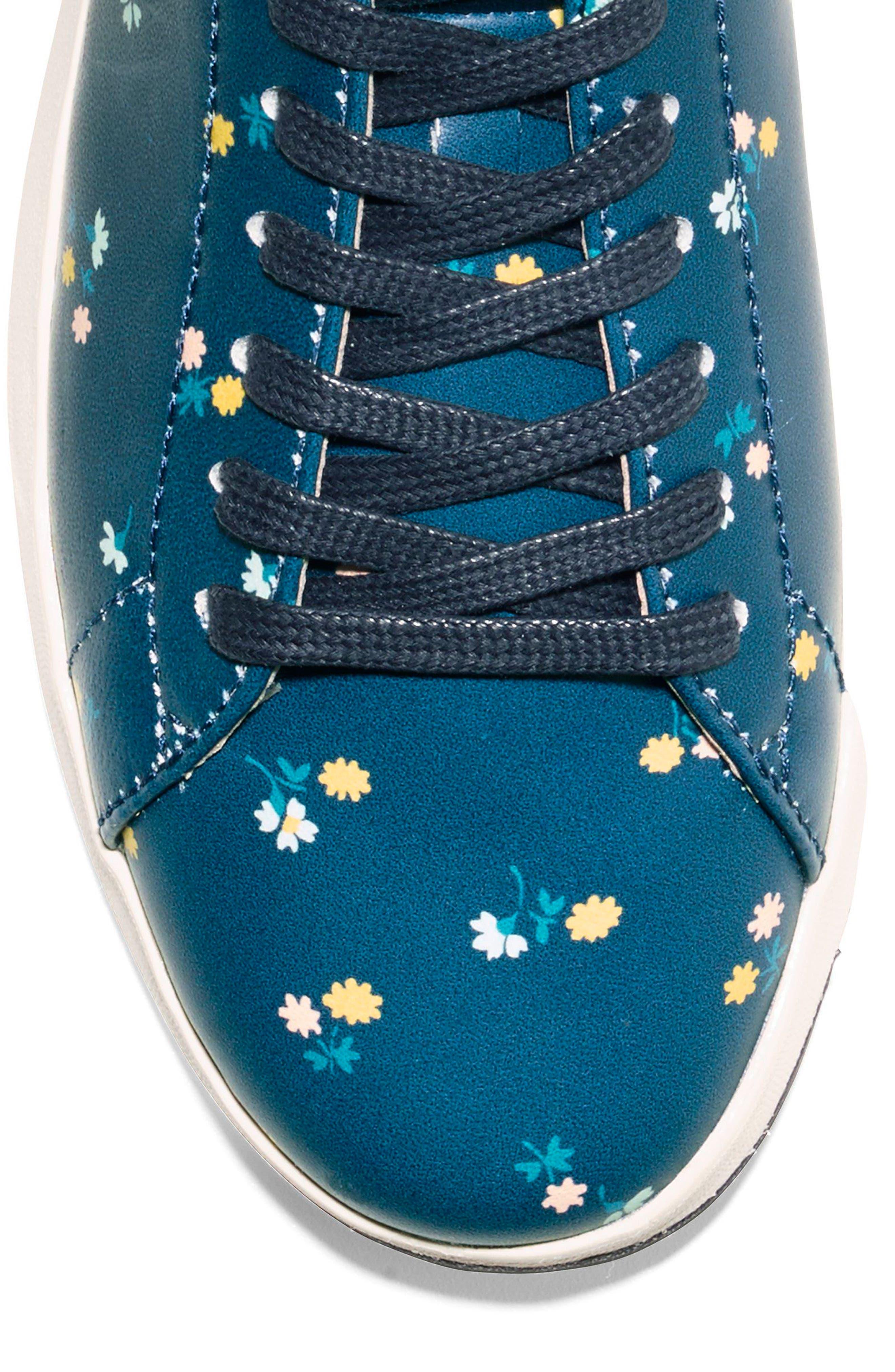 GrandPro Tennis Shoe,                             Alternate thumbnail 7, color,                             NAVY FLORAL LEATHER