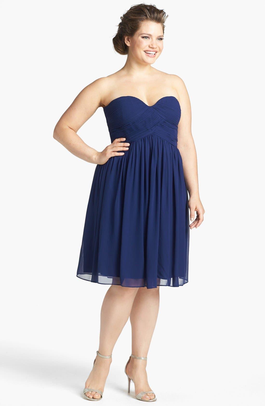 'Morgan' Strapless Silk Chiffon Dress,                             Alternate thumbnail 57, color,