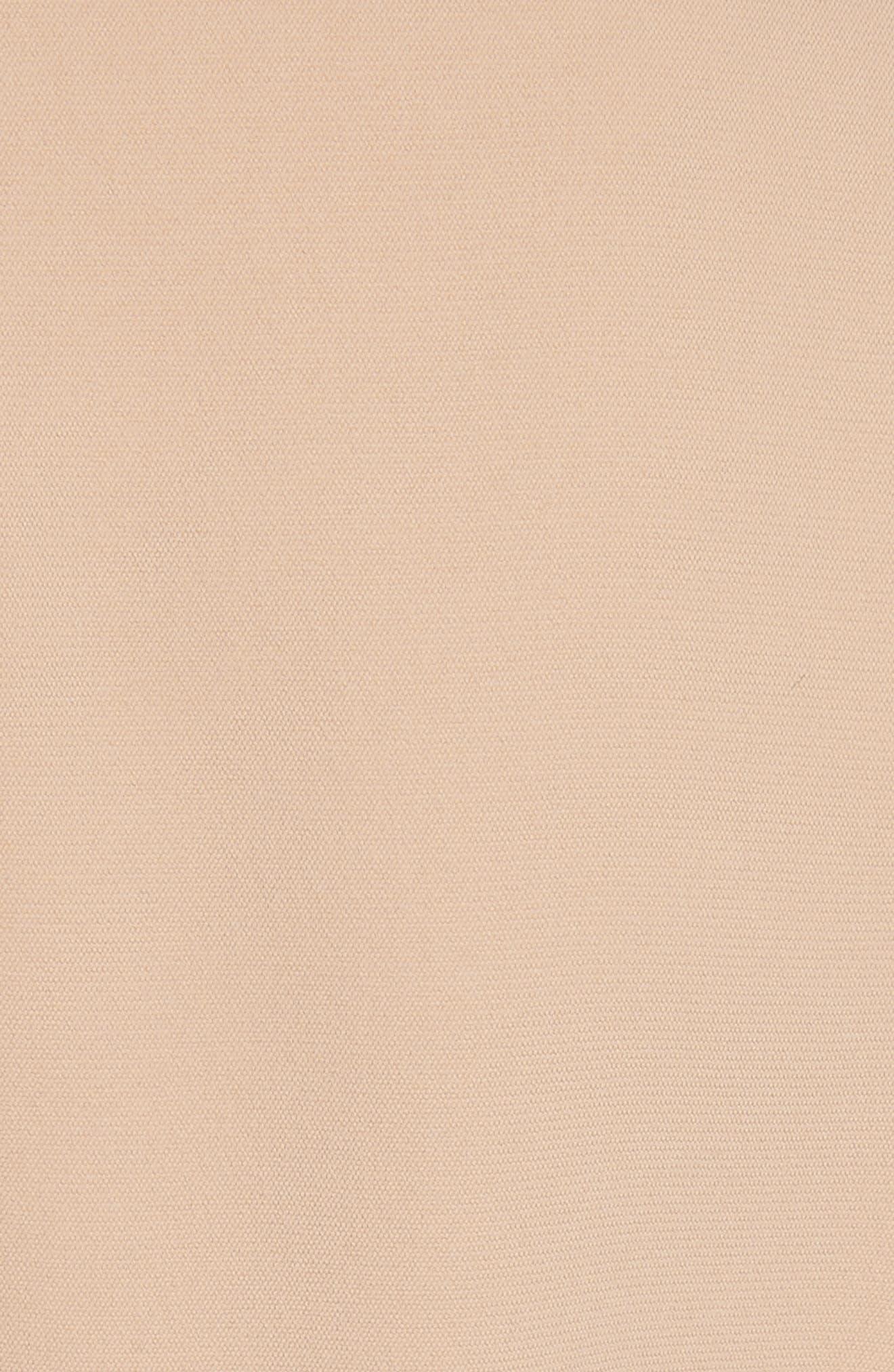 Shirred Sleeve Corset Dress,                             Alternate thumbnail 6, color,                             NUDE/ ORANGE MULTI
