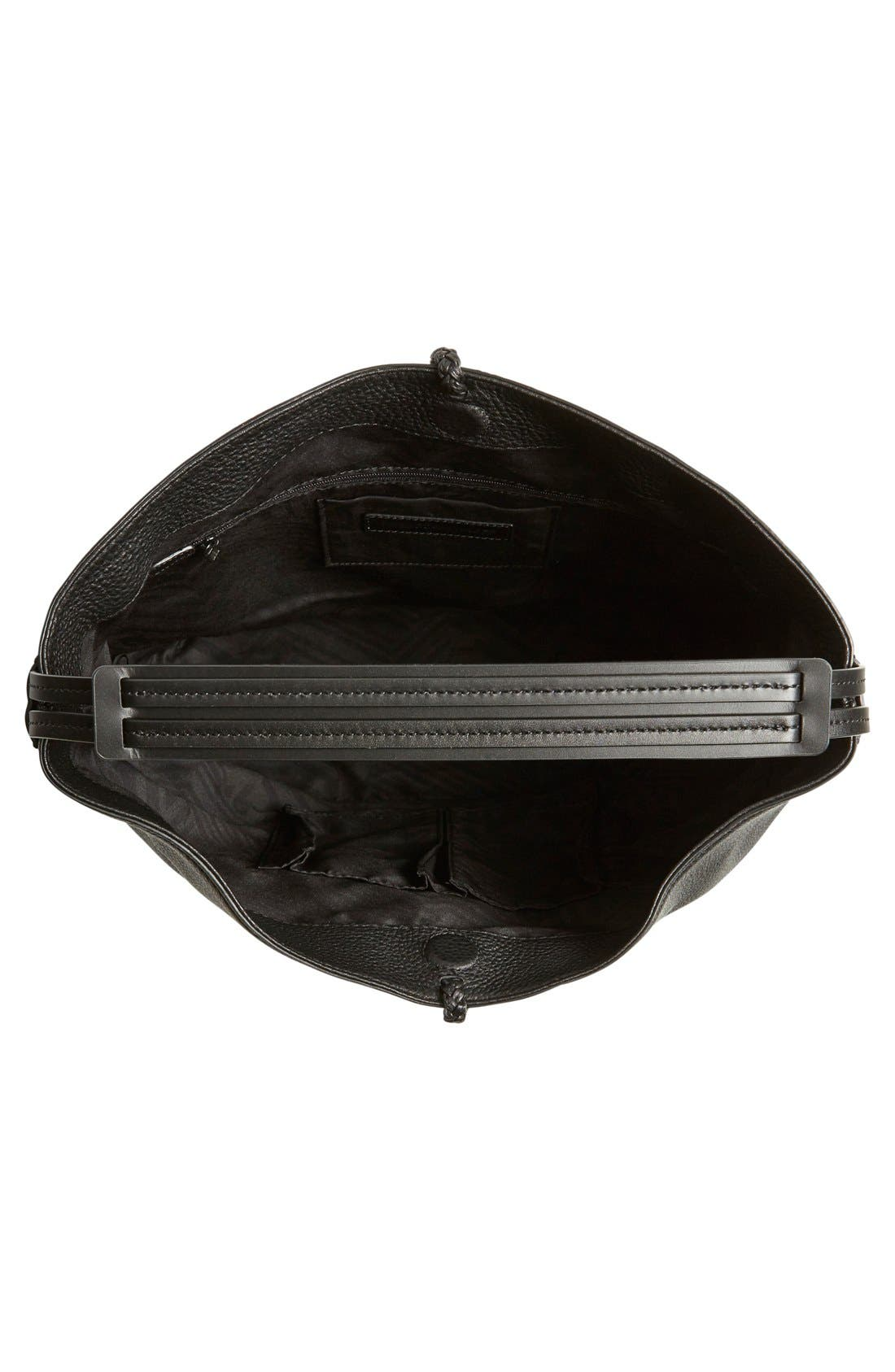 'Isobel' Tassel Leather Hobo,                             Alternate thumbnail 2, color,                             001